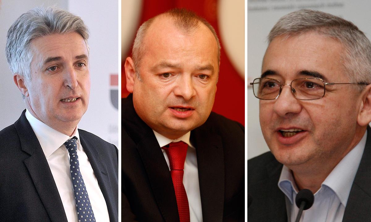 Damir Grbavac (desno), Dubravko Štimac (sredina), Petar Vlaić (lijevo)