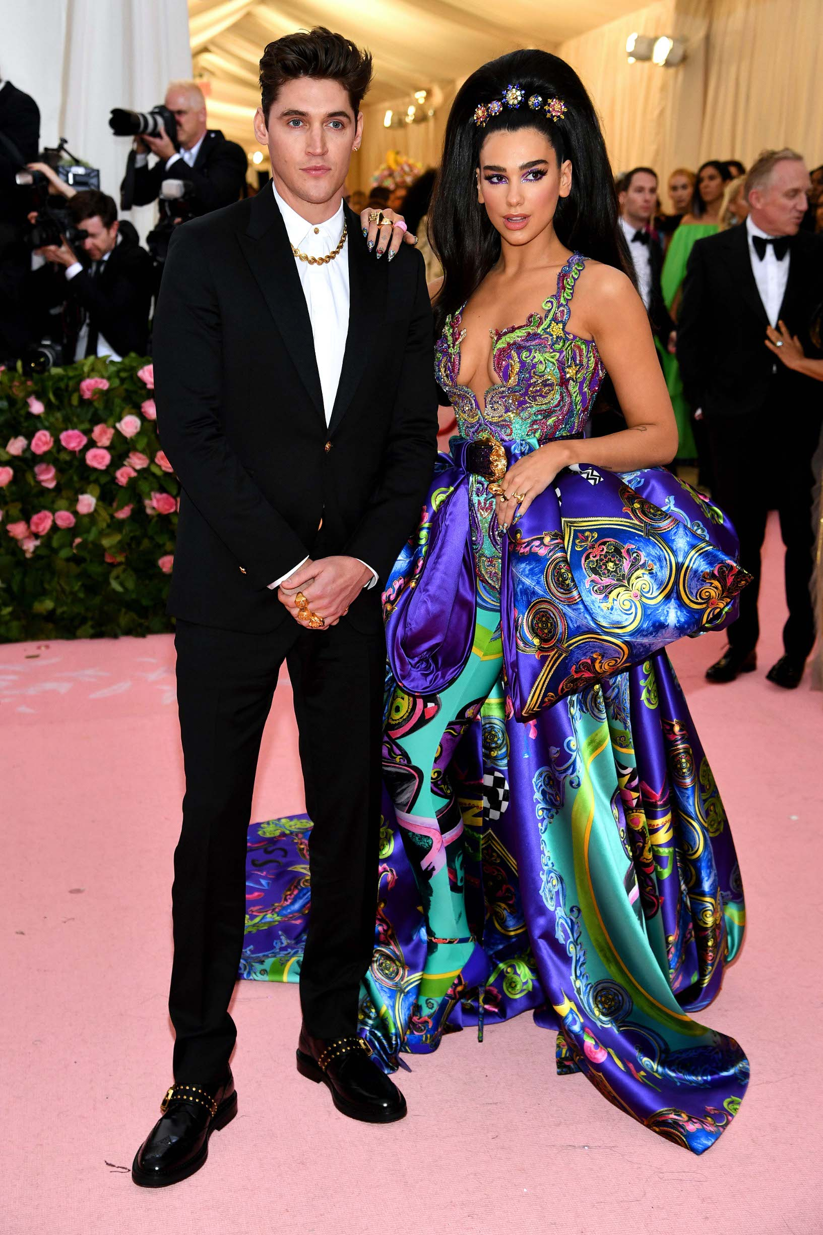 NEW YORK, NEW YORK - MAY 06: Isaac Carew and Dua Lipa attends The 2019 Met Gala Celebrating Camp: Notes on Fashion at Metropolitan Museum of Art on May 06, 2019 in New York City. (Photo by Dimitrios Kambouris/Getty Images for The Met Museum/Vogue)