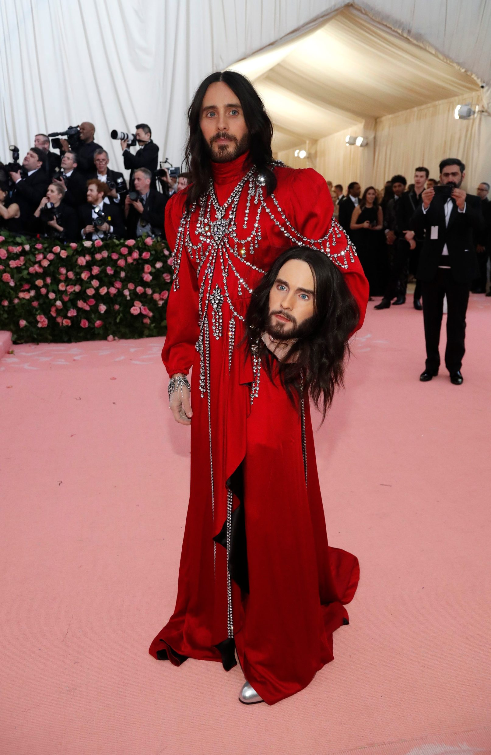 Metropolitan Museum of Art Costume Institute Gala - Met Gala-Camp: Notes on Fashion - Arrivals- New York City, U.S. - May 6, 2019 - Jared Leto. REUTERS/Mario Anzuoni