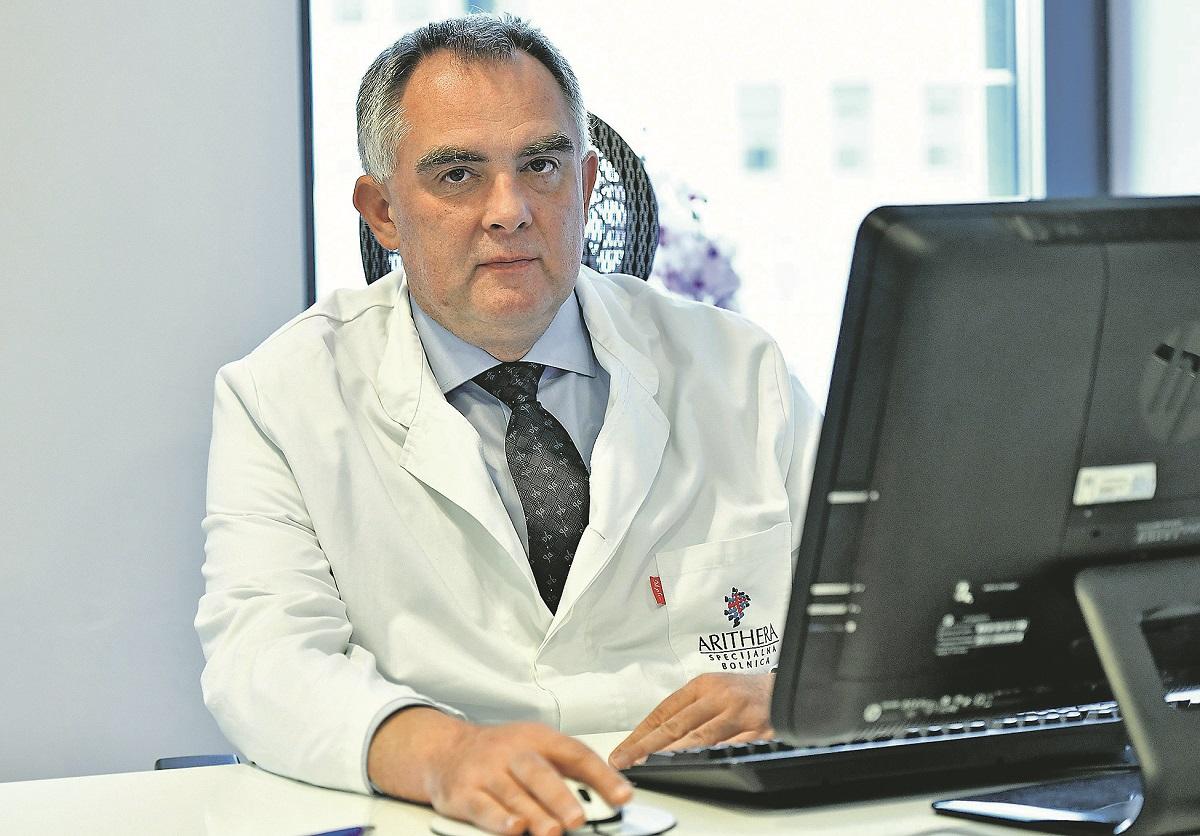 Zagreb, 270918. Specijalna bolnica Arithera, Bukovacka 1. Prof. dr. sc. Rado Zic. Foto: Ronald Gorsic / CROPIX