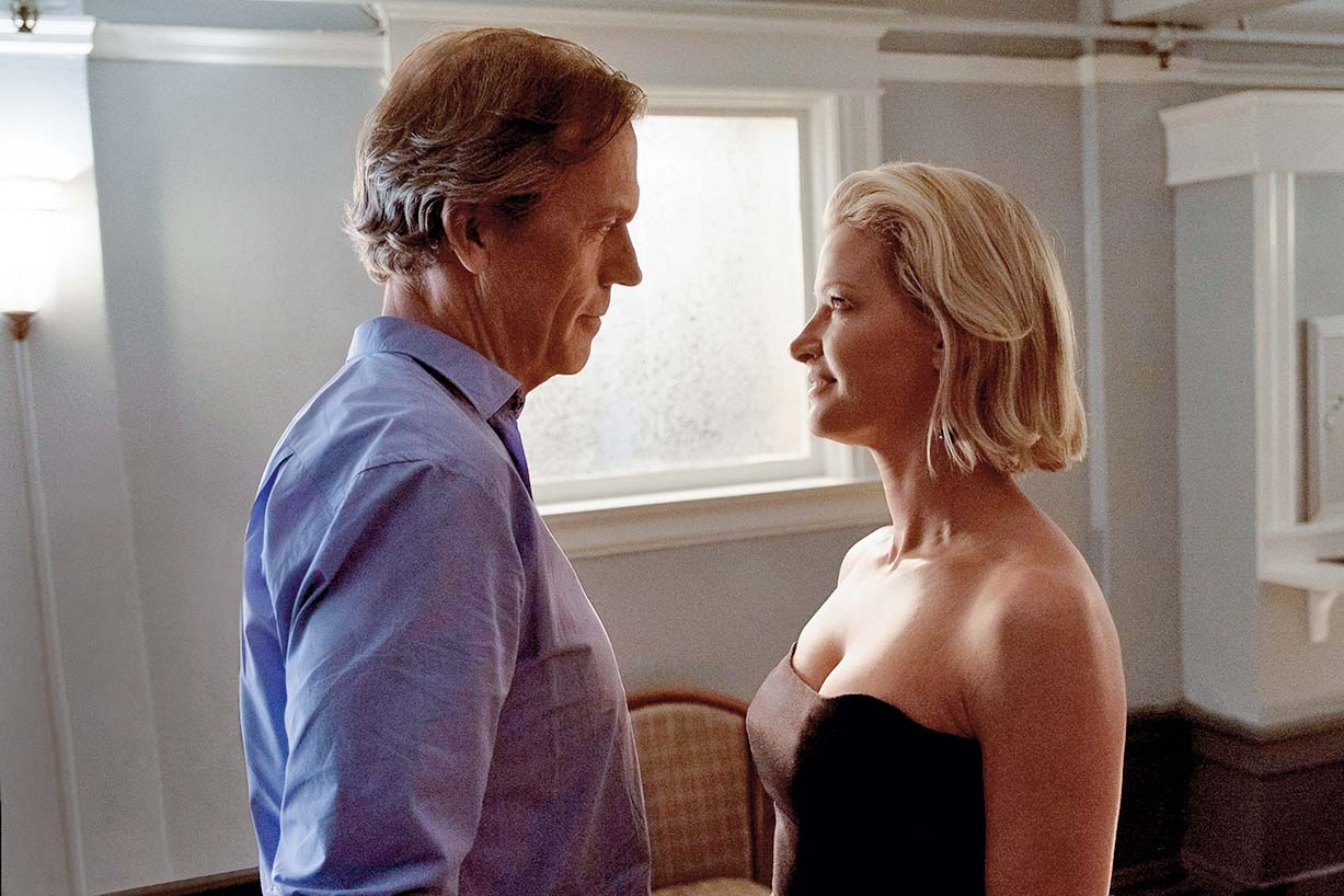Gretchen Mol as Jaclyn Blackstone, Hugh Laurie as Eldon Chance in TV serie CHANCE : serie created by Kem Nunn and Alexandra Cunningham (2015) starring Hugh Laurie, LisaGay Hamilton, Stefania Owen; Thriller, Action; television; serie internationnal; serie TV; serie; Fox 21 Television Studios; The series focuses on a San Francisco-based forensic neuropsychiatrist, played by Laurie; The series is based on the book by Nunn of the same name; saison 1; 2016 NOTE: ACCESS RIGHTS ONLY This is a publicly distributed handout SunsetBox provides access rights only and does not license the copyright in the image This is a PR photo Sunsetbox does not claim any Copyright or License in the attached material Fees charged by Sunsetbox are for Sunsetbox's services only, and do not, nor are they intended to, convey to the user any ownership of Copyright or License in the material By publishing this material, the user expressly agrees to indemnify and to hold Sunsetbox harmless from any claims, demands, or causes of action arising out of or connected in any way with user's publication of the material, Image: 300316147, License: Rights-managed, Restrictions: , Model Release: no, Credit line: Profimedia, Allpix Press