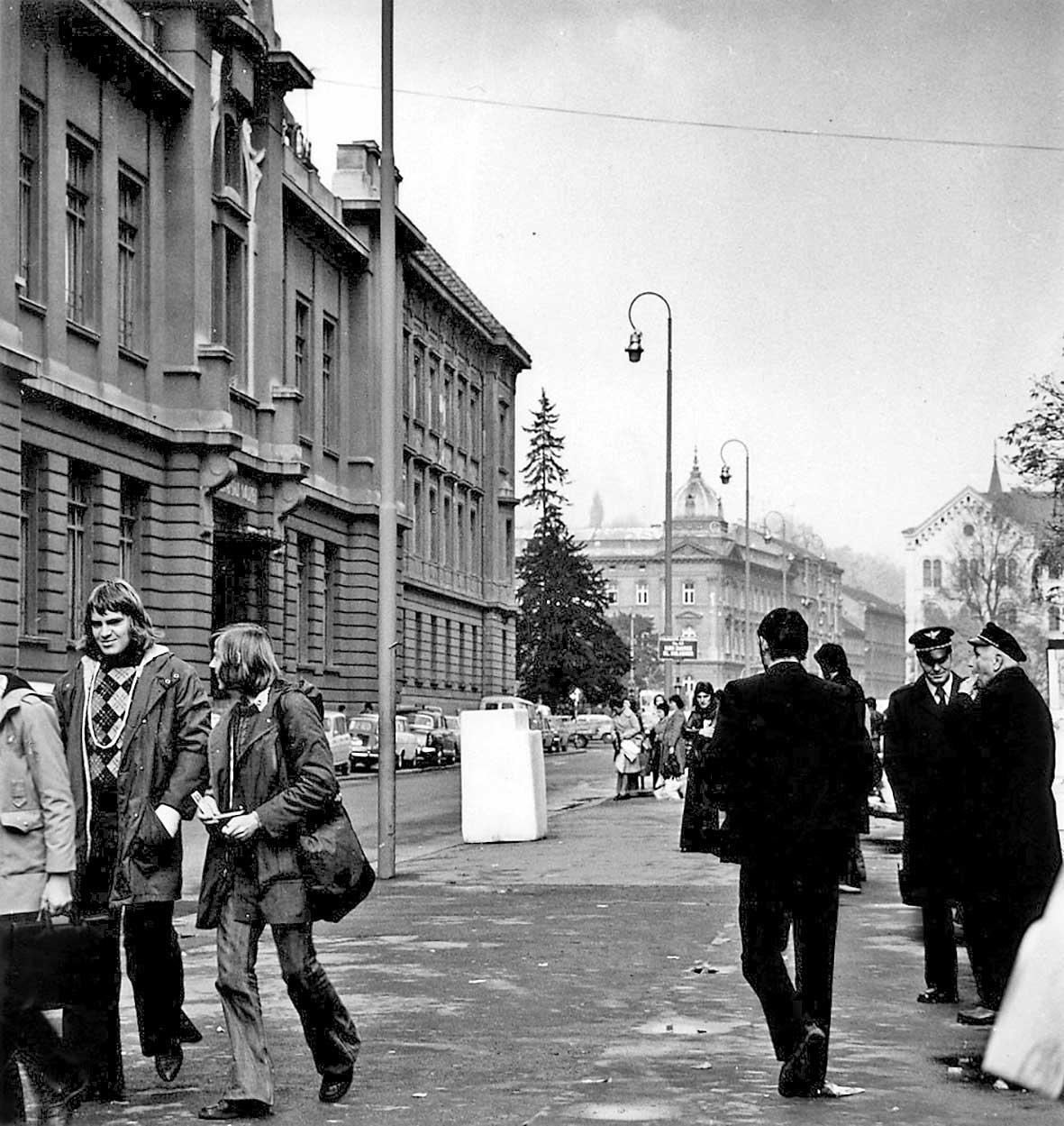Oblik prostora (Frižider) ispred Etnografskog muzeja 1975.