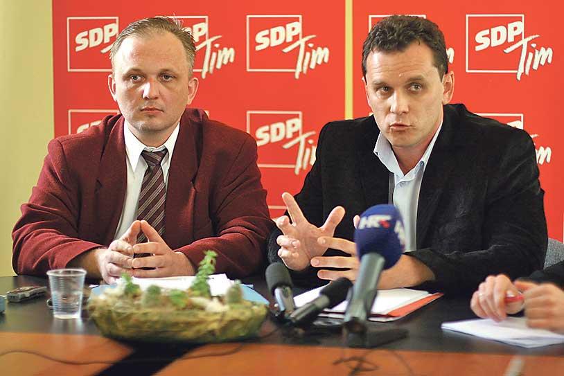 Roberto Lujić, bivši predsjednik brodskog SDP-a, i Stribor Valenta
