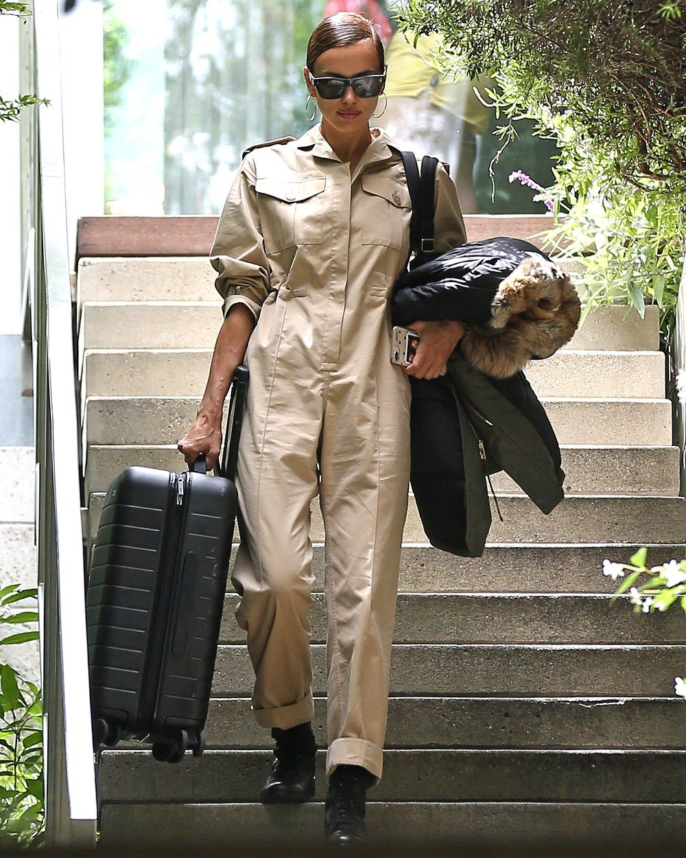Irina Shayk seen leaving her home she shares with Boyfriend Bradley Cooper before catching a flight out of LAX, Irina and Bradley Coopers relationship is reportedly on the rocks. 06 Jun 2019, Image: 443979446, License: Rights-managed, Restrictions: World Rights, Model Release: no, Credit line: Profimedia, Mega Agency
