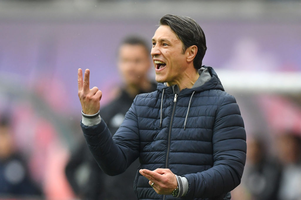 LEIPZIG, GERMANY - MAY 11:  Niko Kovac, Manager of Bayern Munich gives instructions during the Bundesliga match between RB Leipzig and FC Bayern Muenchen at Red Bull Arena on May 11, 2019 in Leipzig, Germany. (Photo by Matthias Hangst/Bongarts/Getty Images)