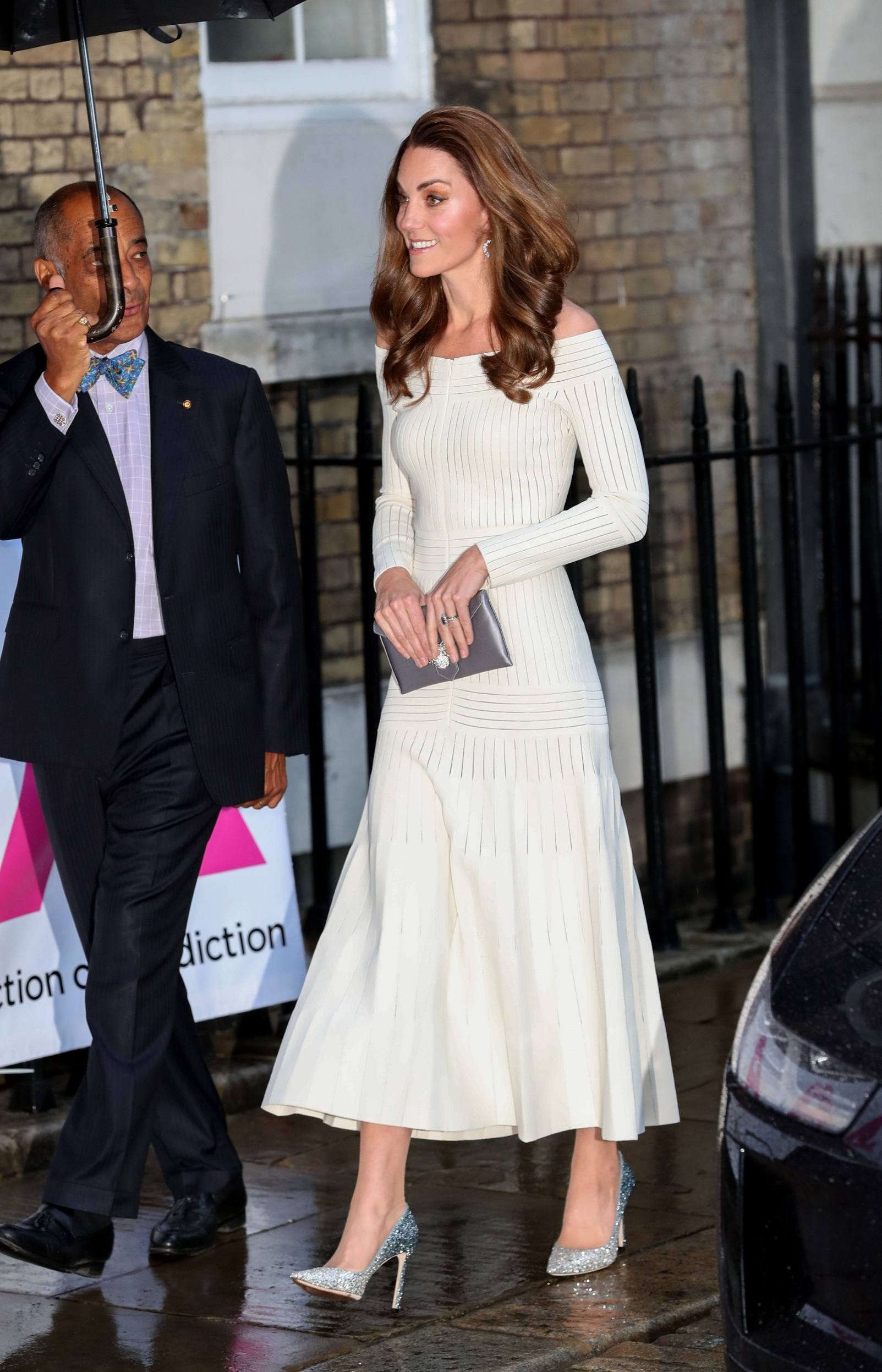 LONDON, ENGLAND - JUNE 12: Catherine, Duchess of Cambridge attends the first annual gala dinner in recognition of Addiction Awareness Week at the Phillips Gallery on June 12, 2019 in London, England. HRH is Patron of Action on Addiction.  (Photo by Chris Jackson/Getty Images)