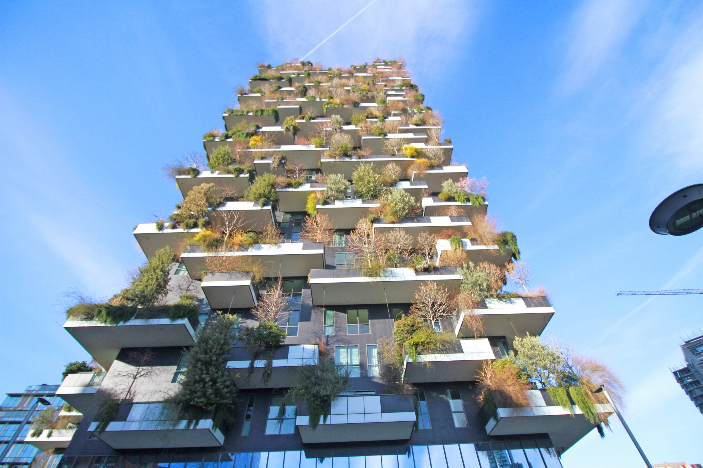 Italy, Milan -  February 12, 2019.Spring in the city..Warm weather fools trees into blooming early.Flowering trees seen at the Bosco Verticale, or Vertical Forest, two skyscrapers as residential apartments by Boeri Studio., Image: 428370836, License: Rights-managed, Restrictions: * France, Germany and Italy Rights Out *, Model Release: no, Credit line: Profimedia, Zuma Press - Archives