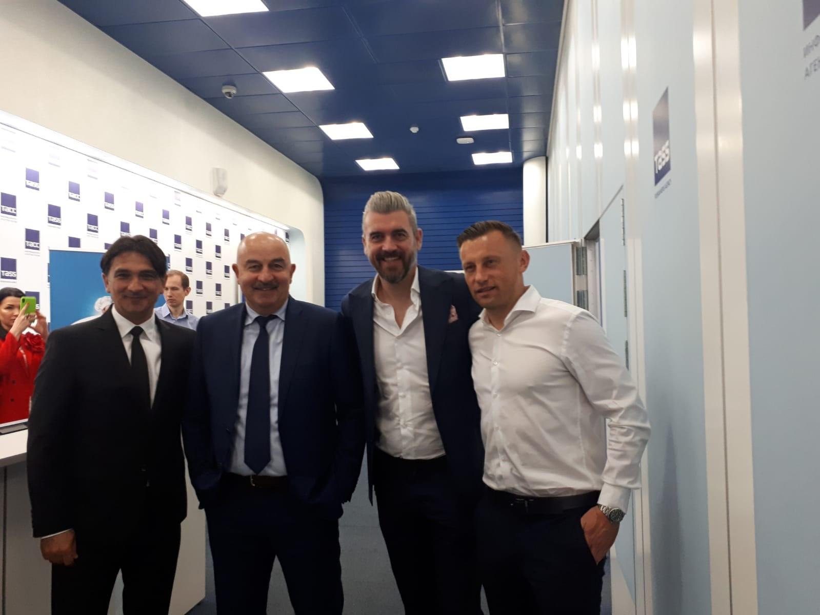 Zlatko Dalić, izbornik Rusije Stanislav Čerčesov, Stipe Pletikosa i Ivica Olić