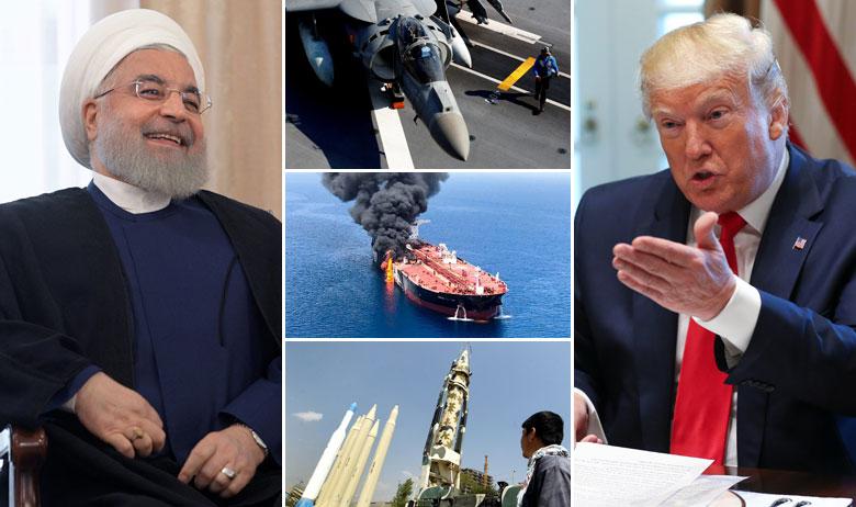 Hassan Rohani (lijevo); Donald Trump (desno)