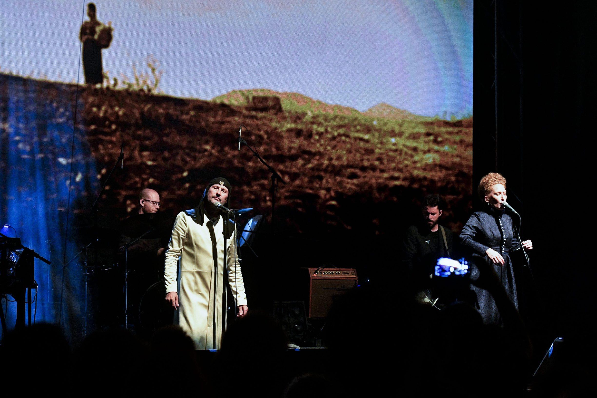 Zagreb, 150619. Koncert grupe Laibach u garazi MSU-a. Foto: Boris Kovacev / CROPIX