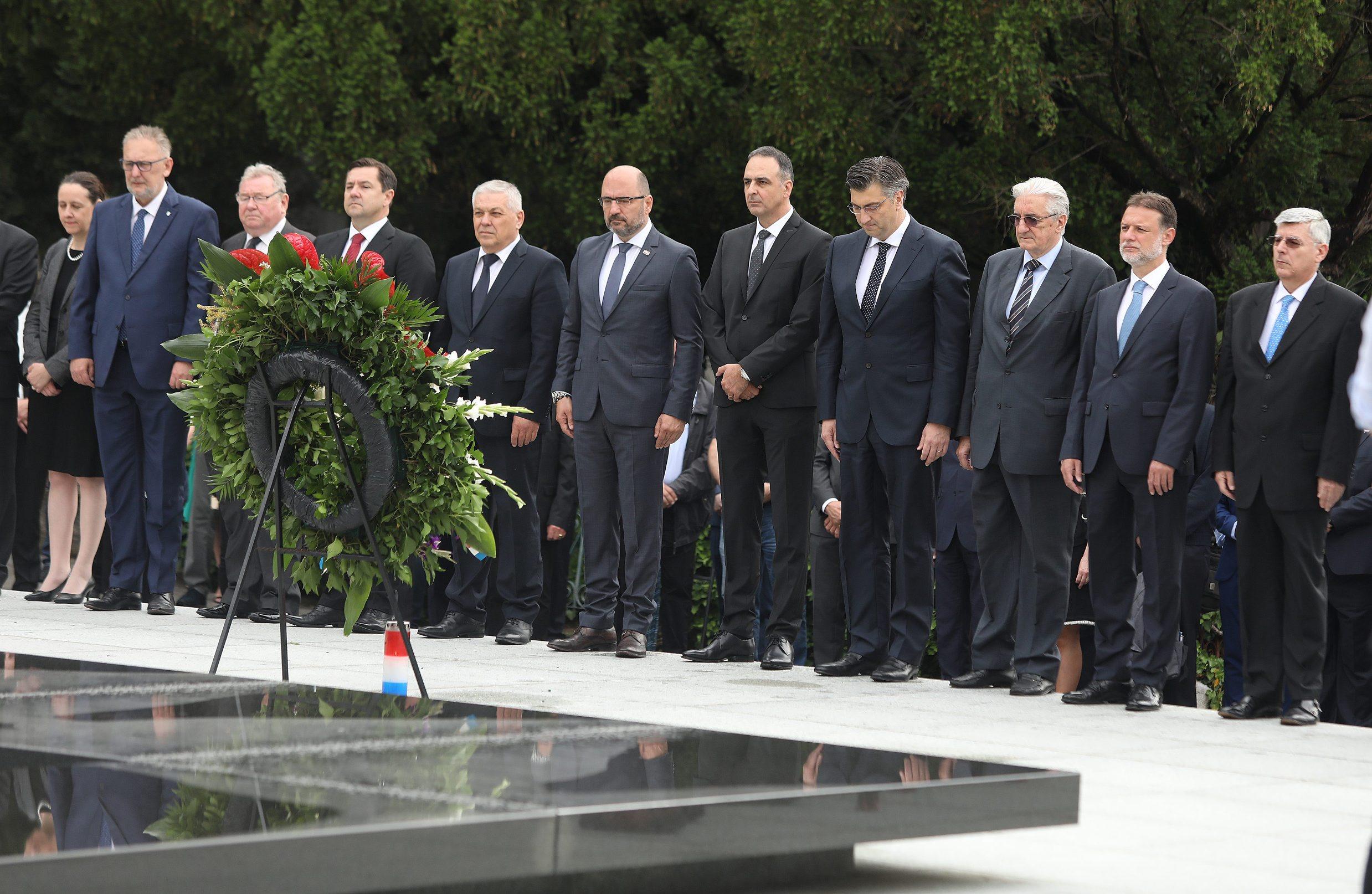 Milijan Brkić, Andrej Plenković, Miroslav Tuđman, Gordan Jandroković i Željko Reiner.