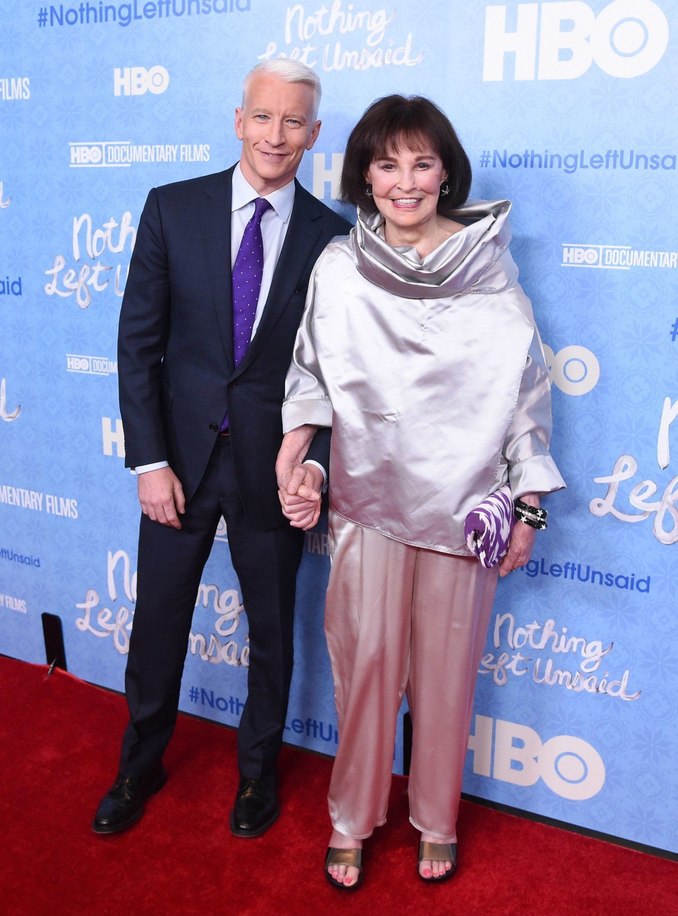/Anderson Cooper and Gloria Vanderbilt 'Nothing Left Unsaid: Gloria Vanderbilt and Anderson Cooper' HBO documentary premiere, New York, America - 04 Apr 2016, Image: 280575249, License: Rights-managed, Restrictions: , Model Release: no, Credit line: Profimedia, TEMP Rex Features