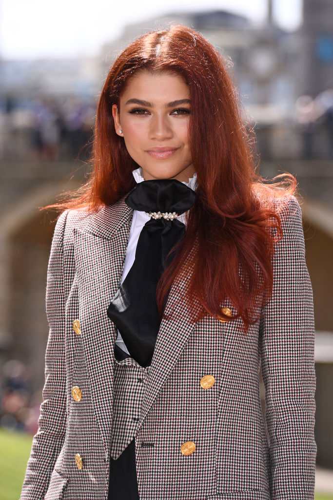 LONDON, ENGLAND - JUNE 17: Zendaya (MJ) attends the Spider-Man: Far From Home London photo call at Tower of London one of the films iconic locations on June 17, 2019 in London, England. (Photo by Jeff Spicer/Getty Images for Sony)