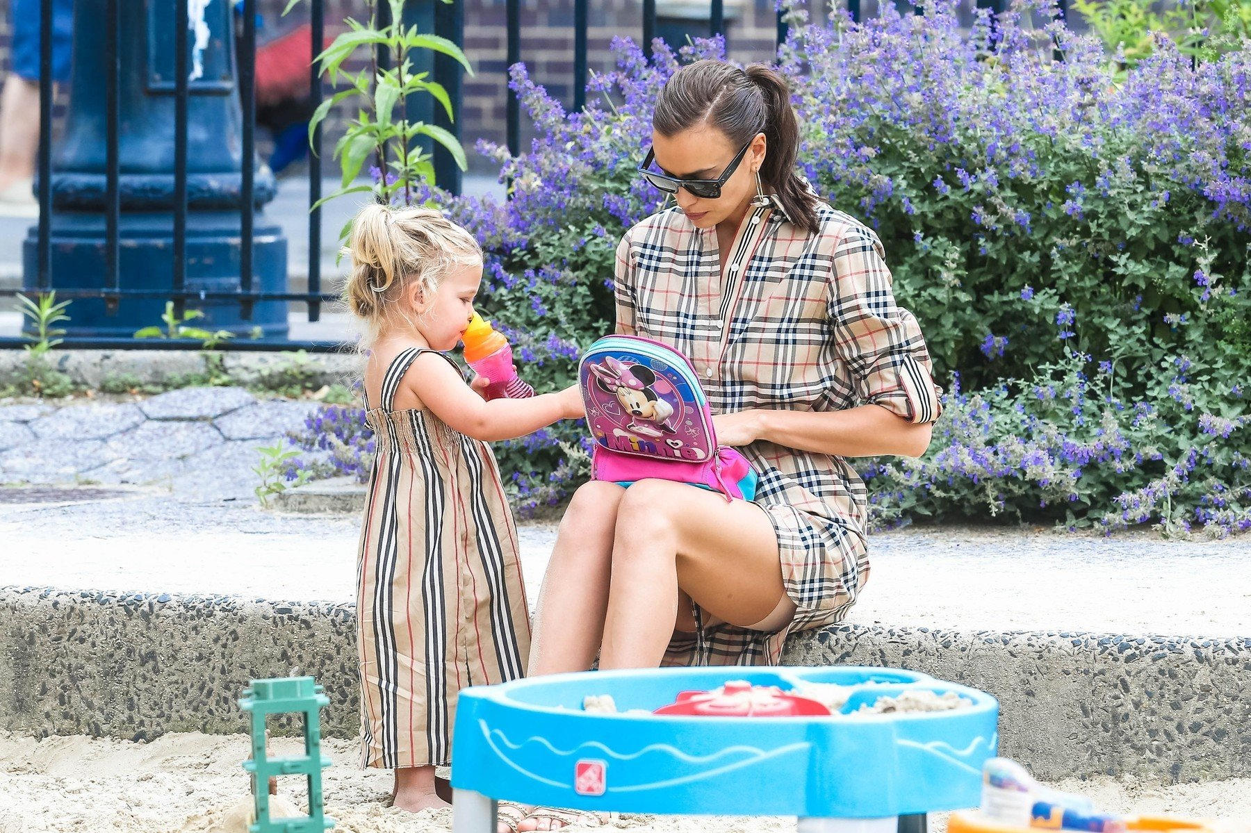 New York, NY  - Irina Shayk enjoys time with her daughter after breaking up with Bradley Cooper. The duo are seen enjoying their day at the park together.  *UK Clients - Pictures Containing Children Please Pixelate Face Prior To Publication*, Image: 448732825, License: Rights-managed, Restrictions: , Model Release: no, Credit line: Profimedia, Backgrid USA