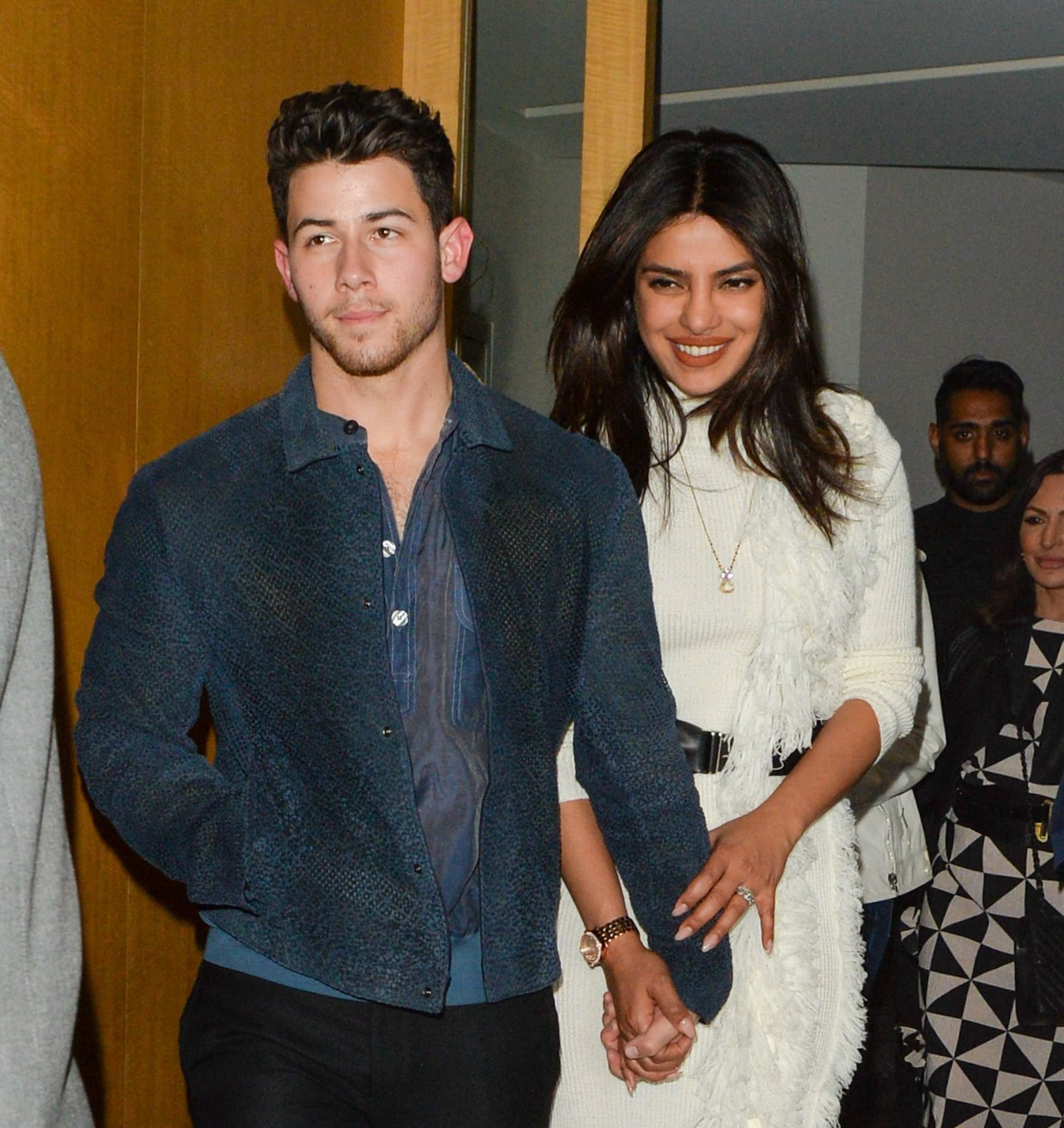 Nick Jonas and Priyanka Chopra Jonas Brothers out and about, Nobu Restaurant, London, UK - 30 May 2019, Image: 440181283, License: Rights-managed, Restrictions: , Model Release: no, Credit line: Profimedia, TEMP Rex Features