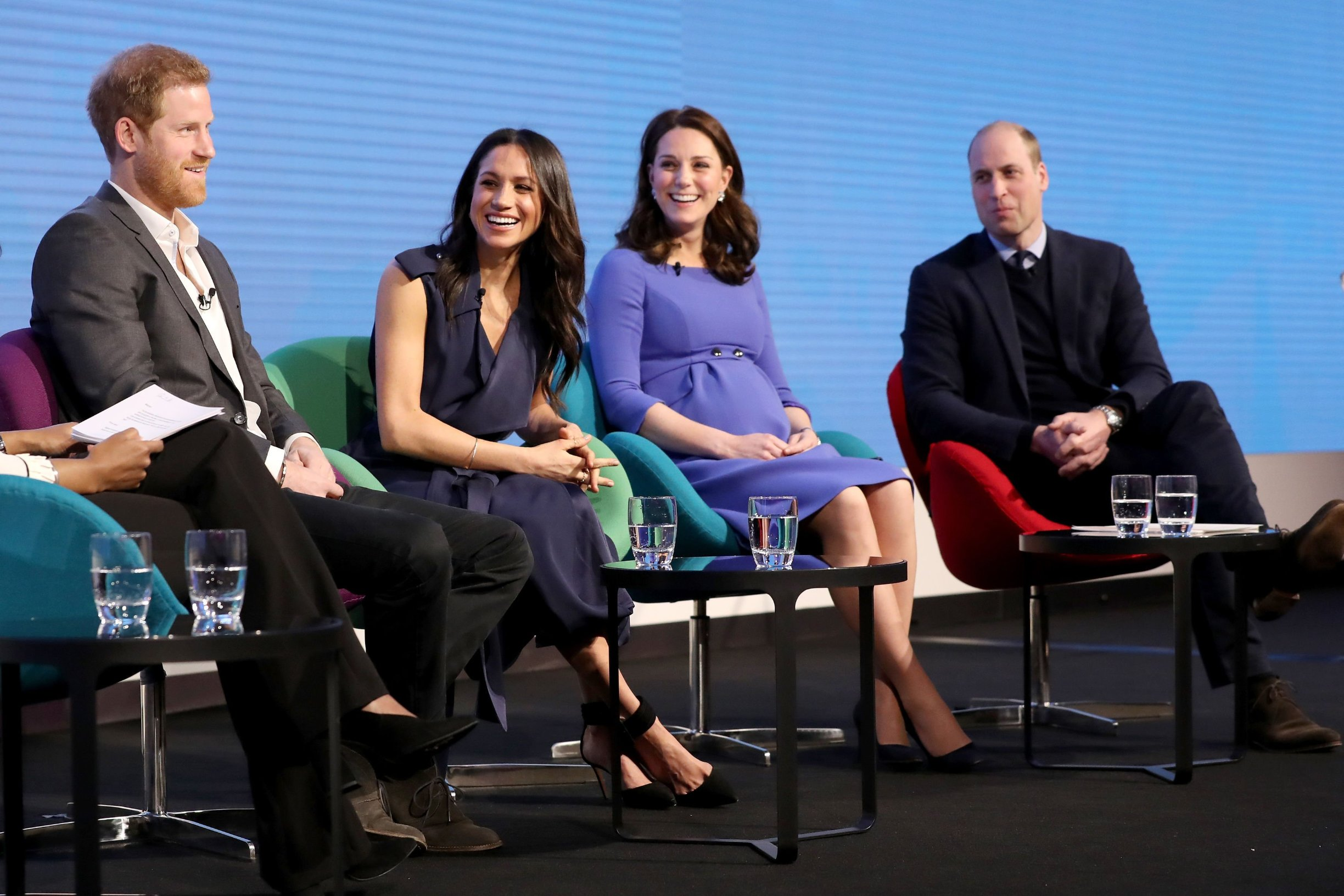 File photo dated 28/02/18 of (left to right) Prince Harry, Meghan Markle and the Duchess and Duke of Cambridge during the first Royal Foundation Forum in central London., Image: 404227169, License: Rights-managed, Restrictions: FILE PHOTO, Model Release: no, Credit line: Profimedia, Press Association