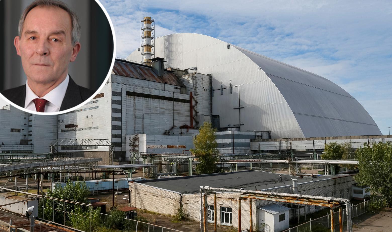 Vince Novak i divovski svod nad reaktorom u Černobilu