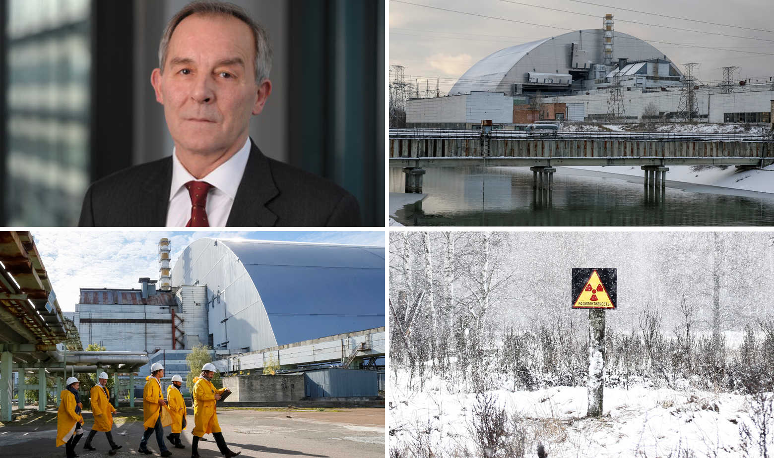 Vince Novak i željezni svod nad reaktorom i sarkofagom u Černobilu