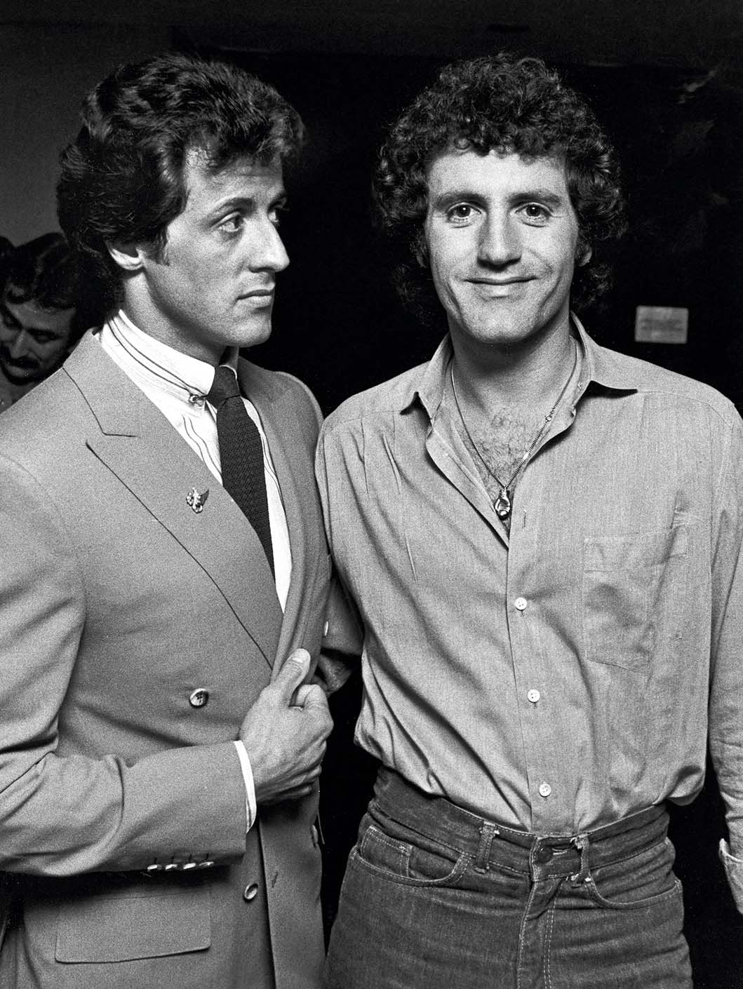 Sylvester Stallone and Frank Stallone during Sylvester Stallone's 36th Birthday at The Tropicana in Atlantic City, New Jersey, United States. (Photo by Ron Galella/Ron Galella Collection via Getty Images)