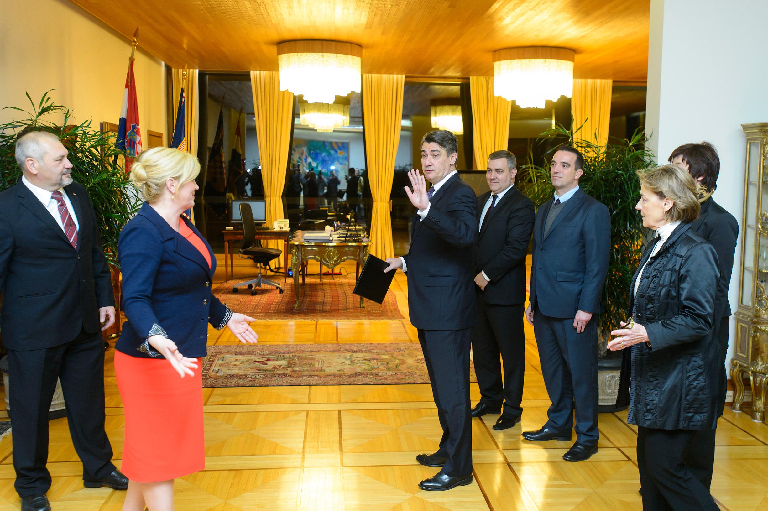 Milanović i Grabar-Kitarović prije tri godine na Pantovčaku
