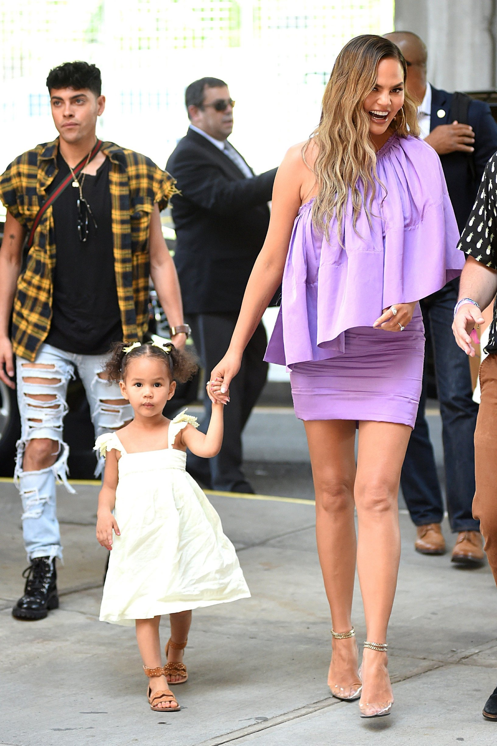 , New York, NY - 20190623 Chrissy Teigen walking around with her daughter, Luna Simone Stephens.   -PICTURED: Luna Simone Stephens, Chrissy Teigen -, Image: 450827218, License: Rights-managed, Restrictions: , Model Release: no, Credit line: Profimedia, INSTAR Images