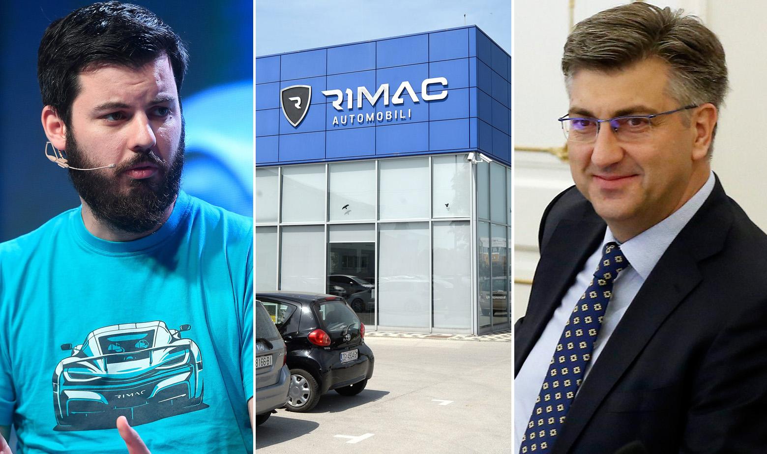 Mate Rimac, pogon Rimac Automobila i Andrej Plenković