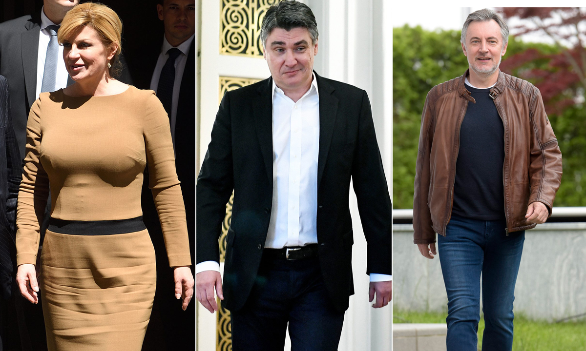 Kolinda Grabar-Kitarović, Zoran Milanović, Miroslav Škoro