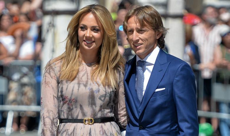 Luka Modrić i Vanja Modrić na vjenčanju nogometaš Sergija Ramosa i televizijske voditeljice Pilar Rubio