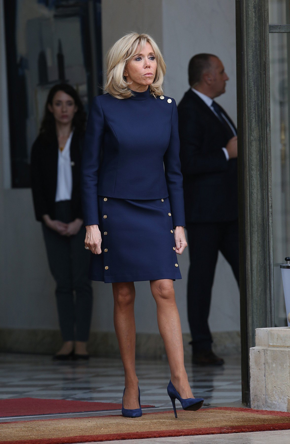 Brigitte Macron and Melania Trump at Elysee Palace in Paris on november 10th 2018, Image: 395172383, License: Rights-managed, Restrictions: , Model Release: no, Credit line: Profimedia, KCS Presse