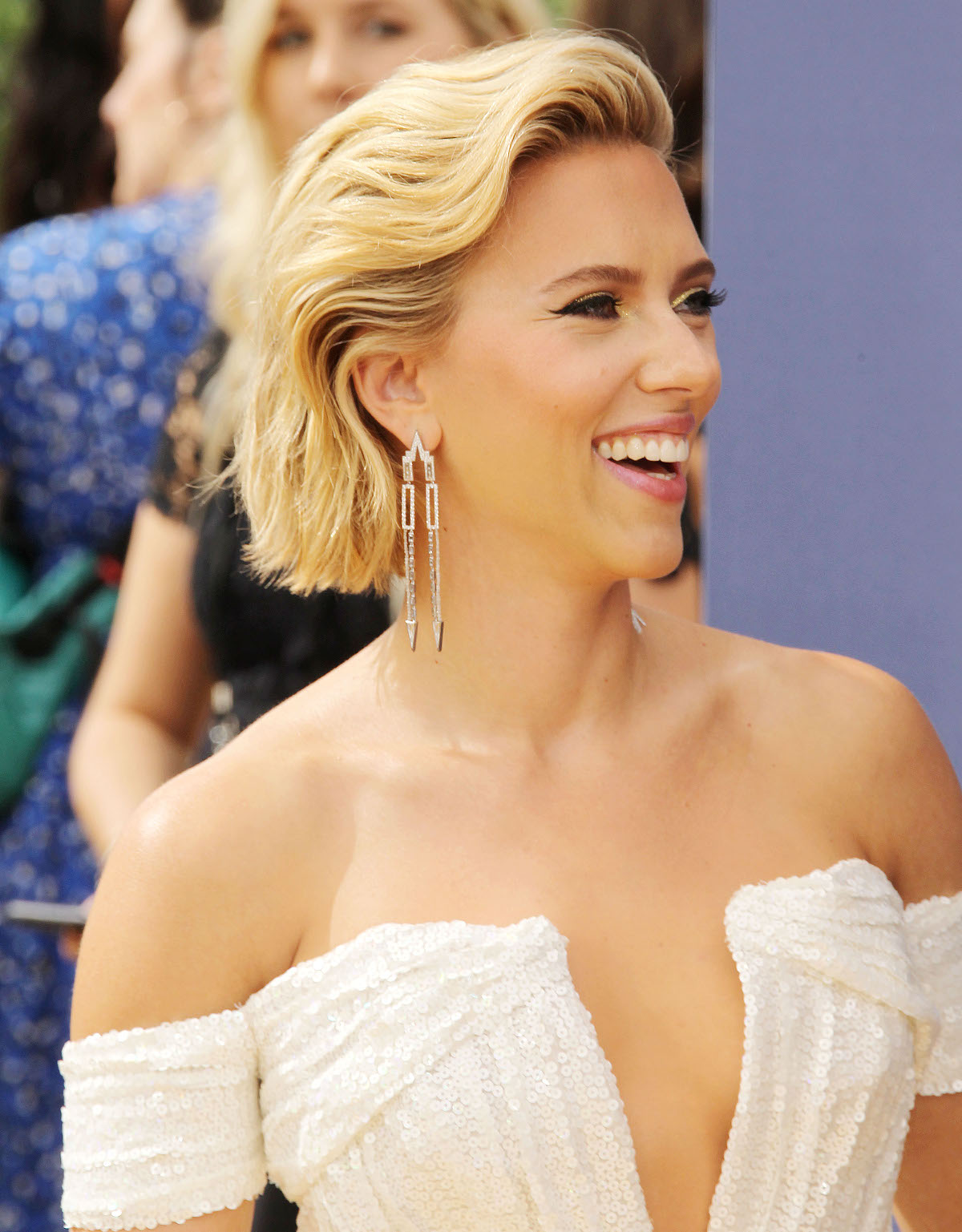 Celebrities attend the 70th Emmy Awards in Los Angeles, CA.  Pictured: Scarlett Johansson,Keltie Knight Ref: SPL5025241 170918 NON-EXCLUSIVE Picture by: SplashNews.com  Splash News and Pictures Los Angeles: 310-821-2666 New York: 212-619-2666 London: 0207 644 7656 Milan: +39 02 4399 8577 Sydney: +61 02 9240 7700 photodesk@splashnews.com  World Rights, No France Rights