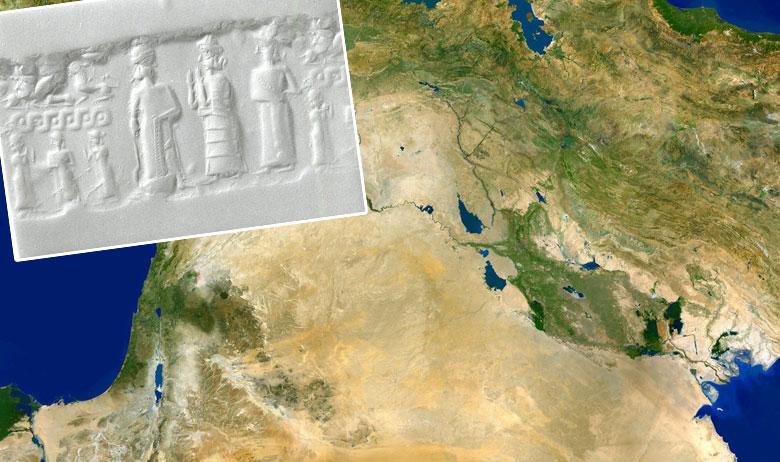 Artefakt iz doba kraljevstva Mitani (u pravokutniku)