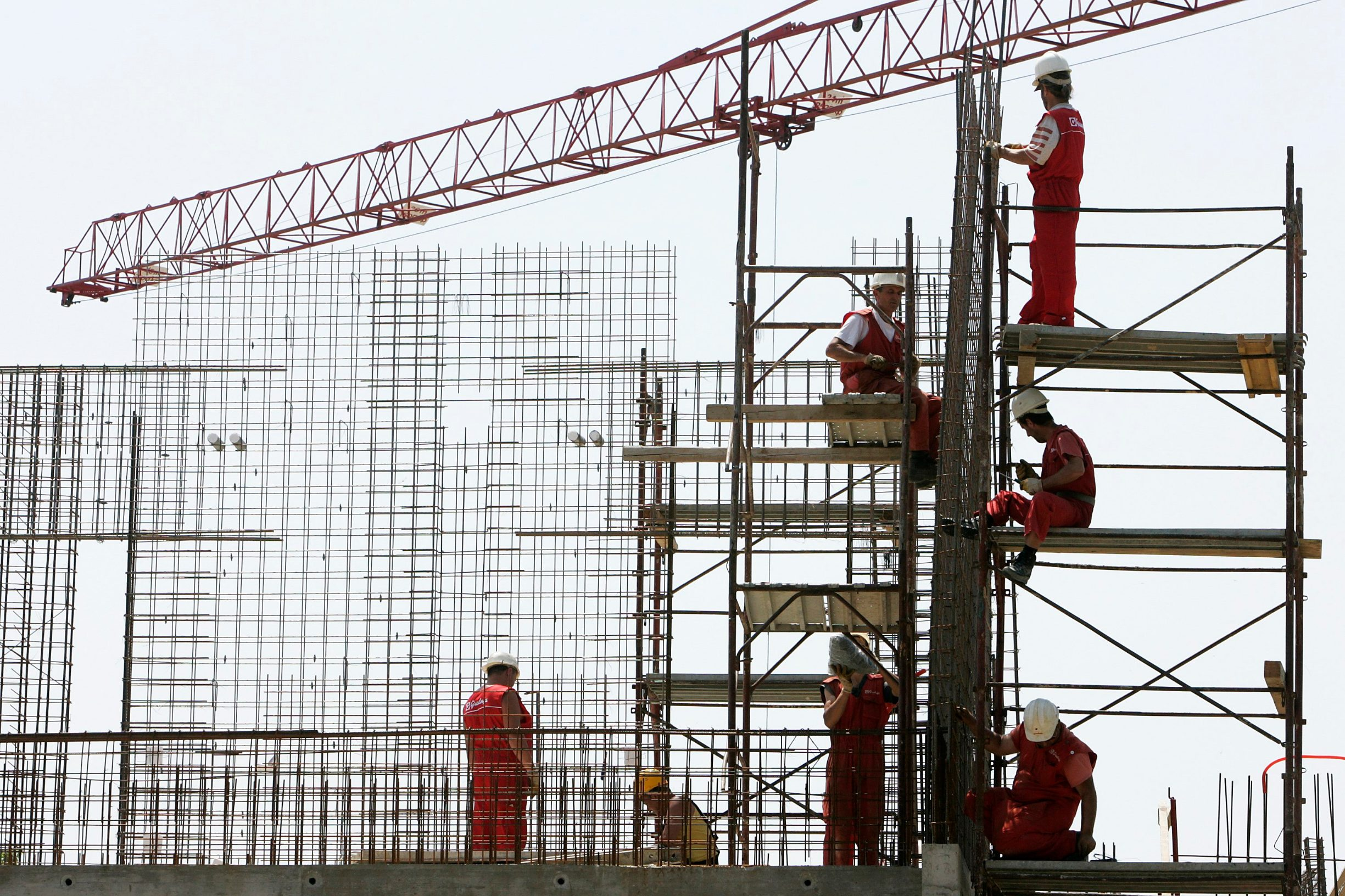 Građevinski radnici, ilustracija