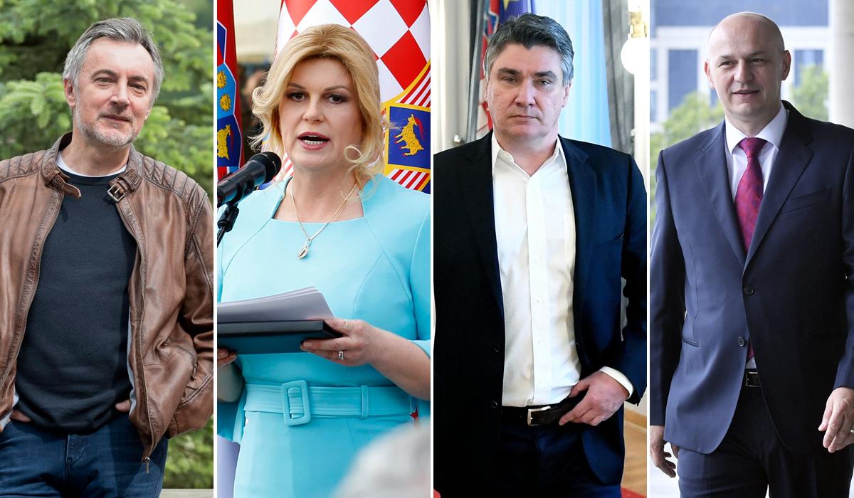 Miroslav Škoro, Kolinda Grabar-Kitarović, Zoran Milanović, Mislav Kolakušić