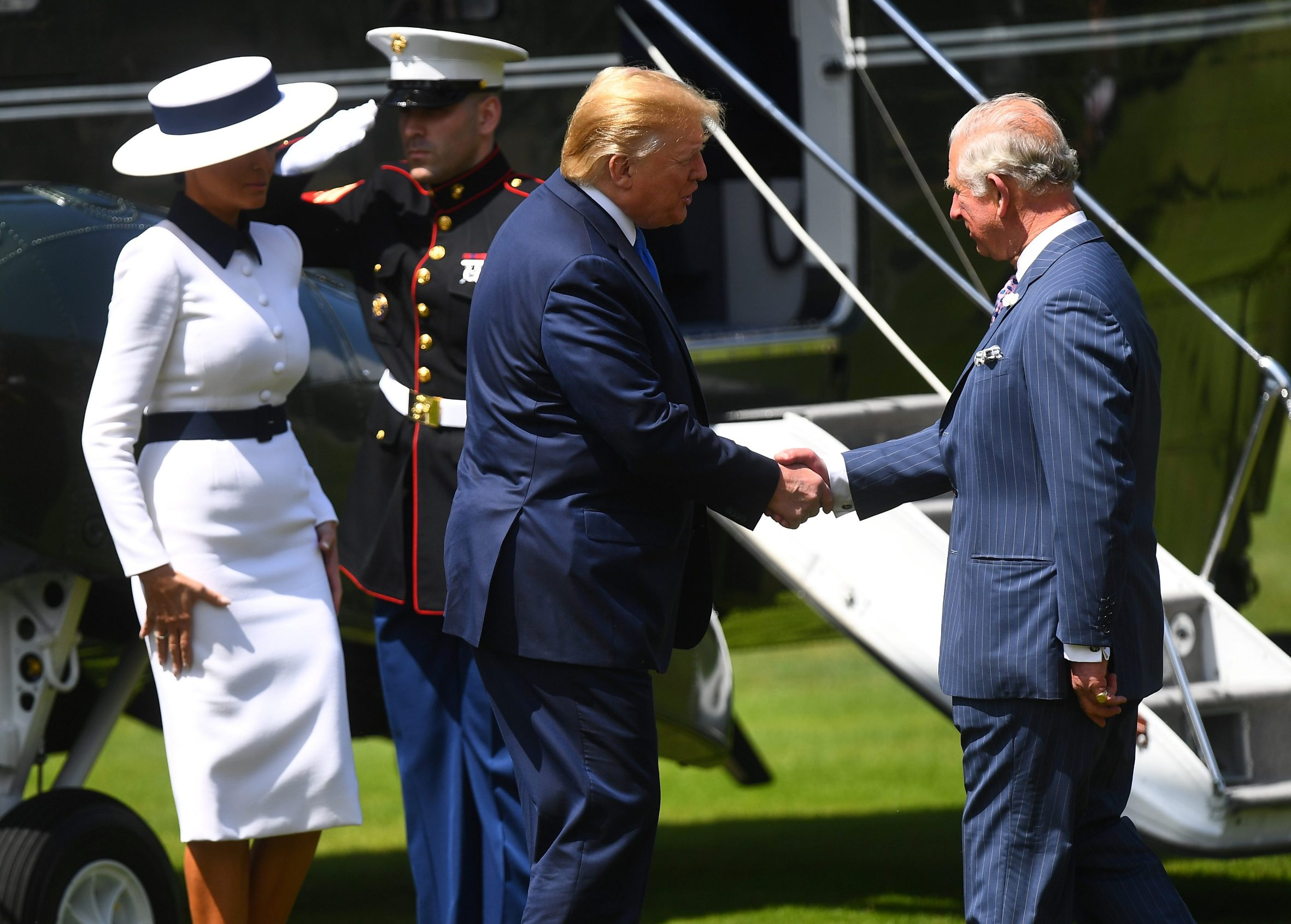 Melania Trump, Donald Trump i princ Charles