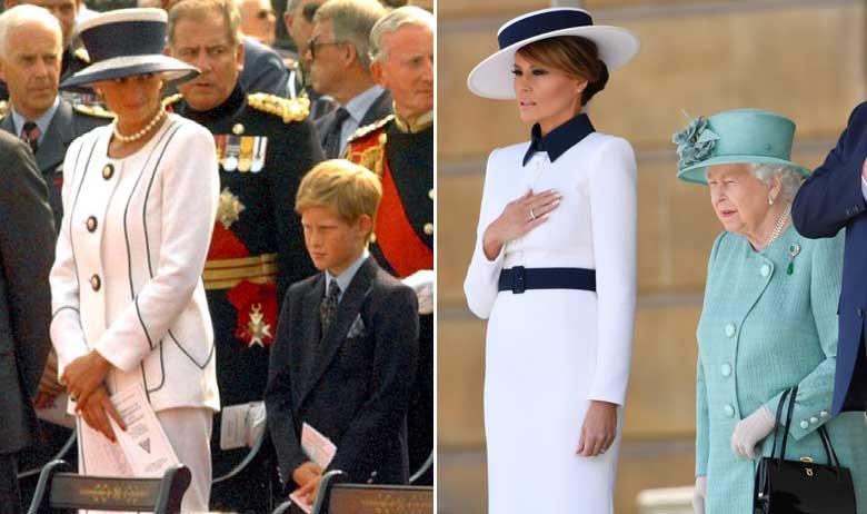 Princeza Diana s princom Harryjem; Melania Trump s kraljicom Elizabetom II.