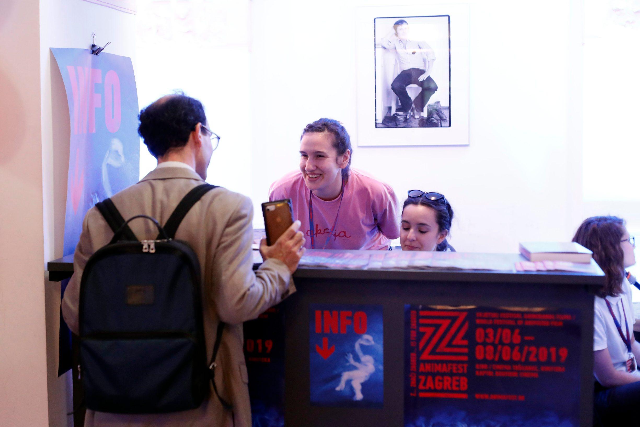 Zagreb, 030619. U kinu Tuskanac otvoren festival animiranog filma Animafest 2019. Na fotografiji: blagajna. Foto: Tomislav Kristo / CROPIX
