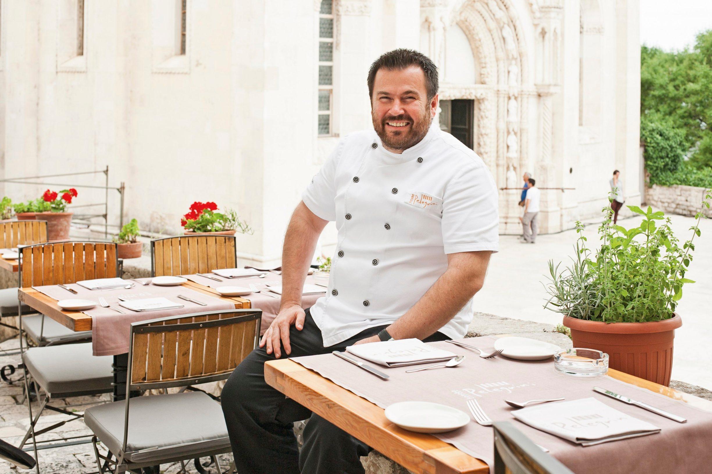 Sibenik, 170615. Restoran Pelegrini. Na fotografiji: Chef Rudof Stefan. Foto: Biljana Gaurina / CROPIX