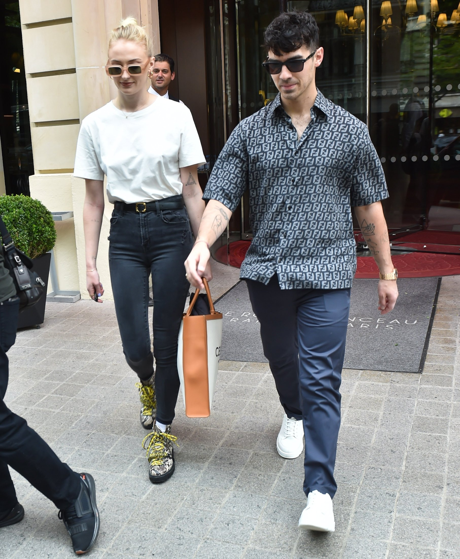 Sophie Turner, Joe Jonas & Nick Jonas and Priyanka Chopra hire a boat to cruise the River Seine in Paris. 24 Jun 2019, Image: 451096030, License: Rights-managed, Restrictions: World Rights, Model Release: no, Credit line: Profimedia, Mega Agency
