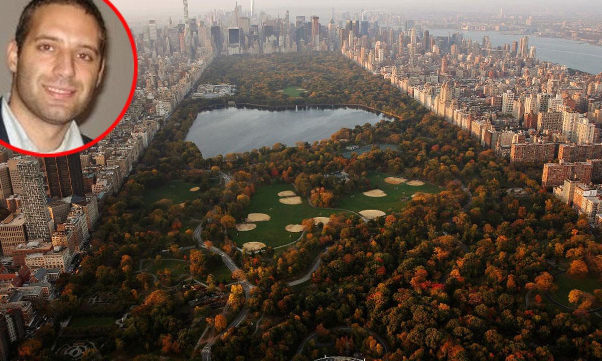 Panorama New Yorka (Manhattan) i Elvis Tominović u krugu