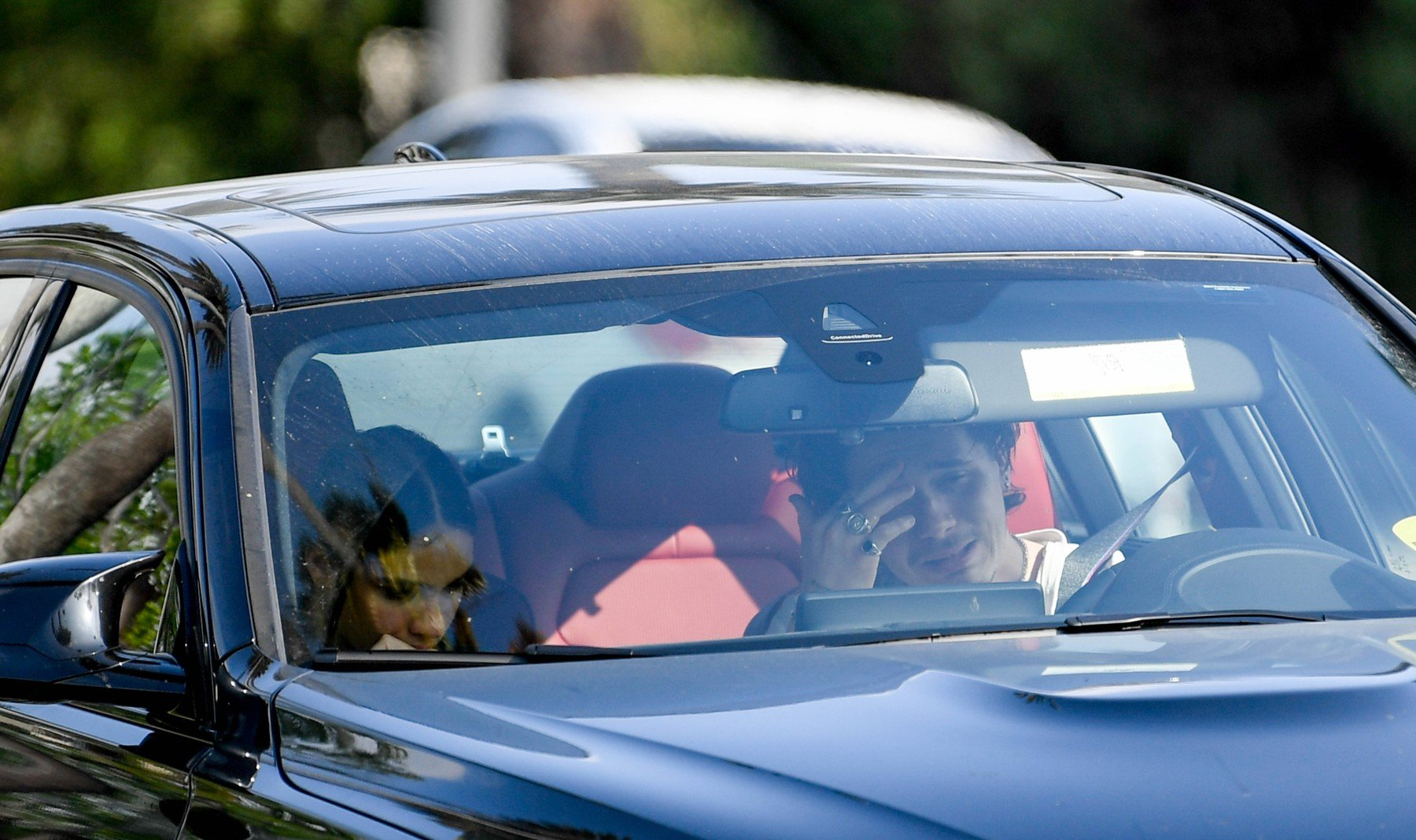 *PREMIUM EXCLUSIVE NO WEB UNTIL 1100AM BST 22ND APRIL* Brooklyn Beckham and Hanna Cross have a heated argument in his car. 20 Apr 2019, Image: 427324724, License: Rights-managed, Restrictions: World Rights, Model Release: no, Credit line: Profimedia, Mega Agency