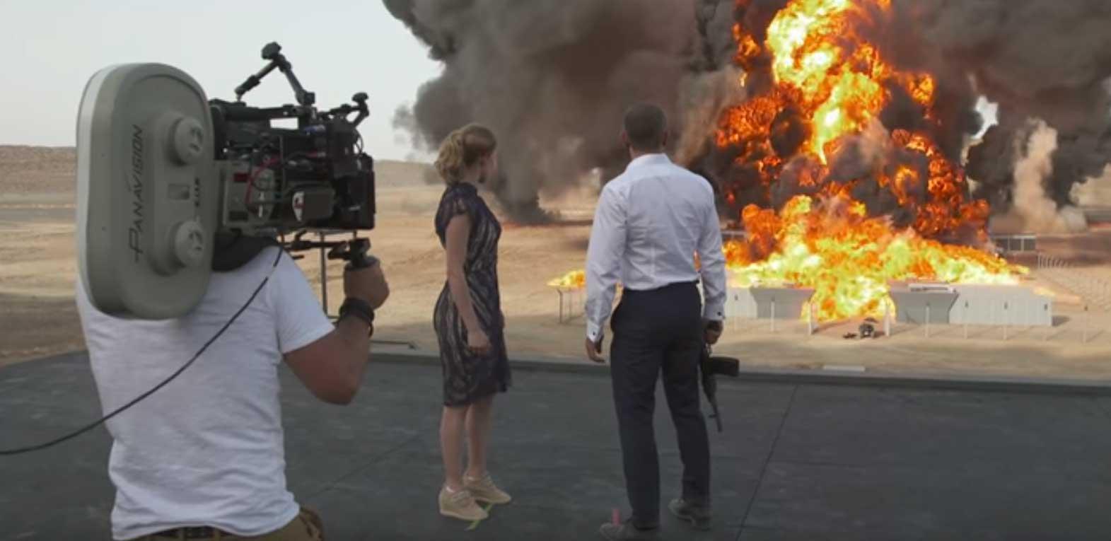 Scena sa snimanja jednog od filmova o Jamesu Bondu
