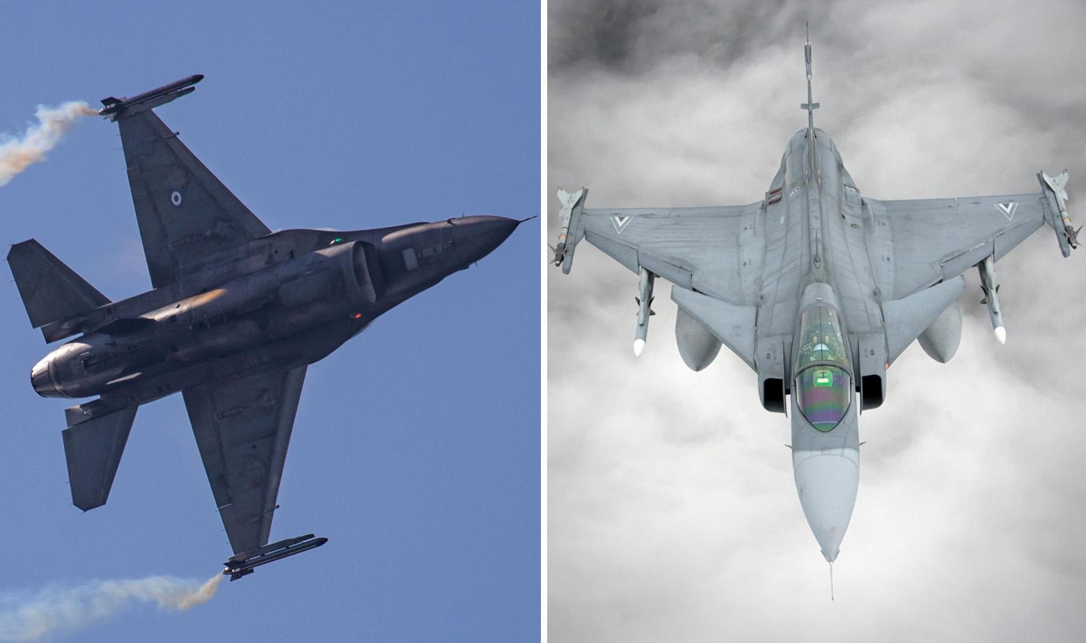F-16 Zračnih snaga Grčke i JAS 39 Gripen Zračnih snaga Mađarske