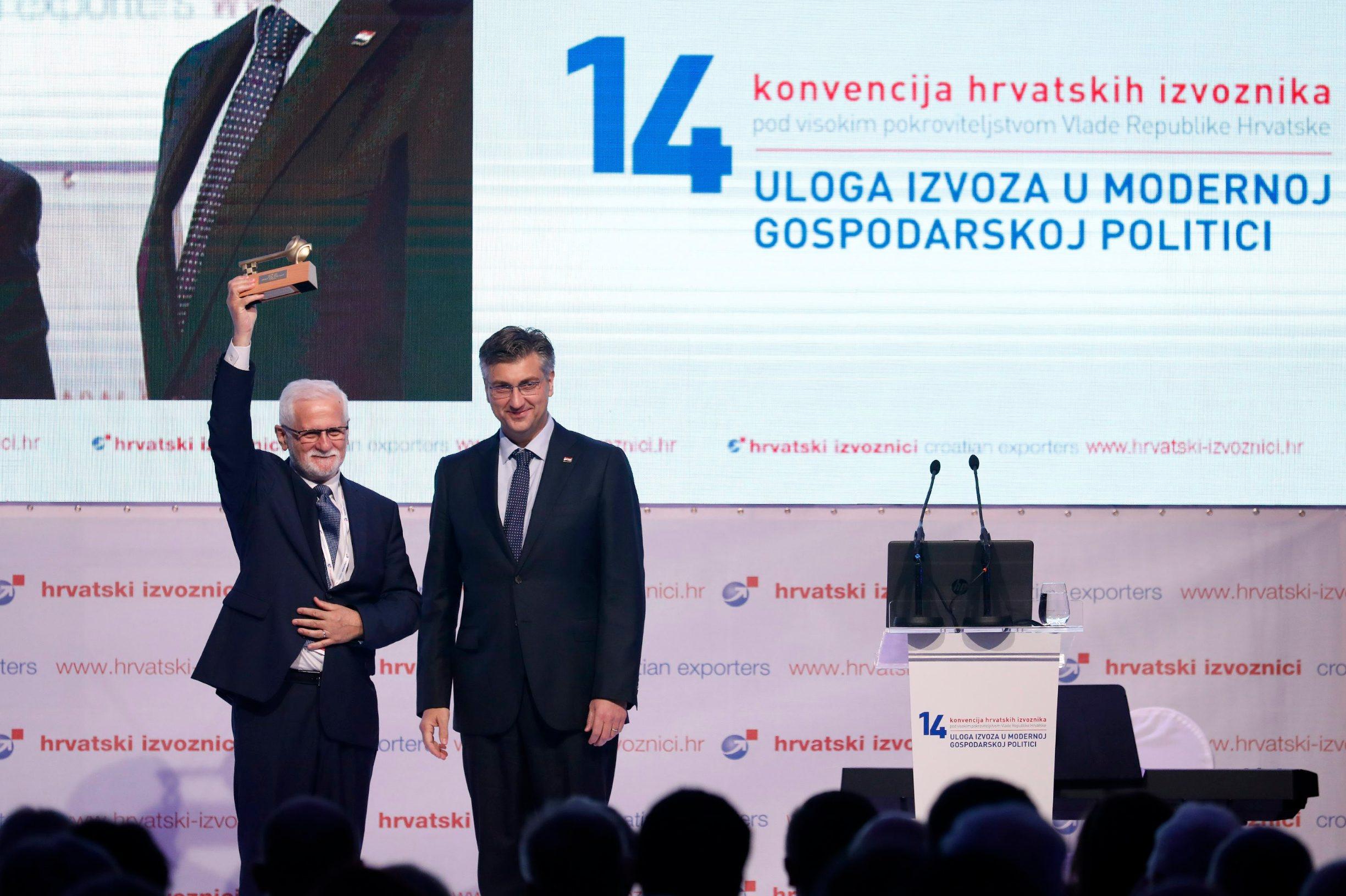 Darinko Bago, predsjednik Hrvatskih izvoznika i premijer Andrej Plenković