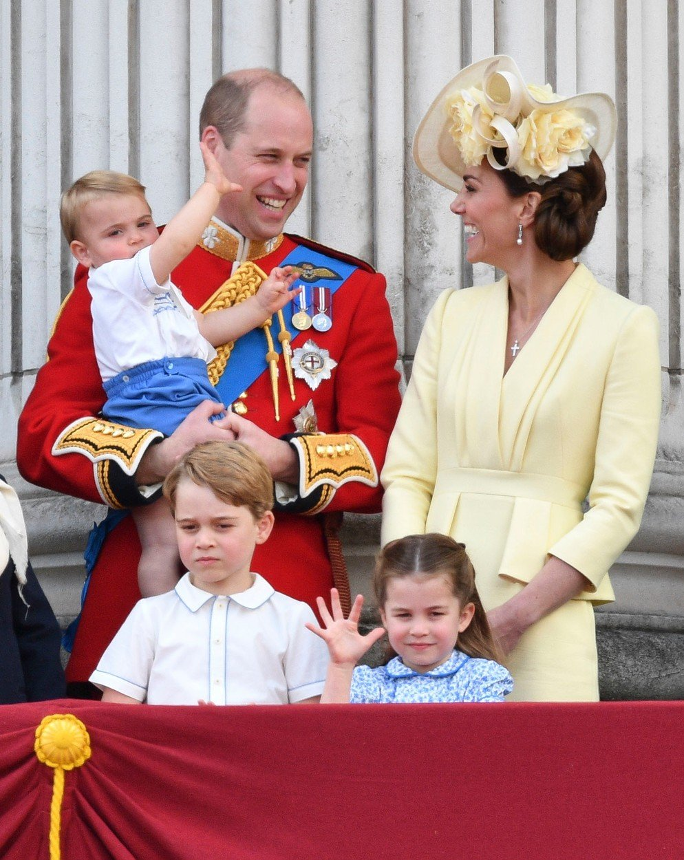 Prince William, Catherine Duchess of Cambridge, Prince Louis, Prince George and Princess Charlotte Trooping the Colour ceremony, London, UK - 08 Jun 2019, Image: 444753550, License: Rights-managed, Restrictions: , Model Release: no, Credit line: Profimedia, TEMP Rex Features