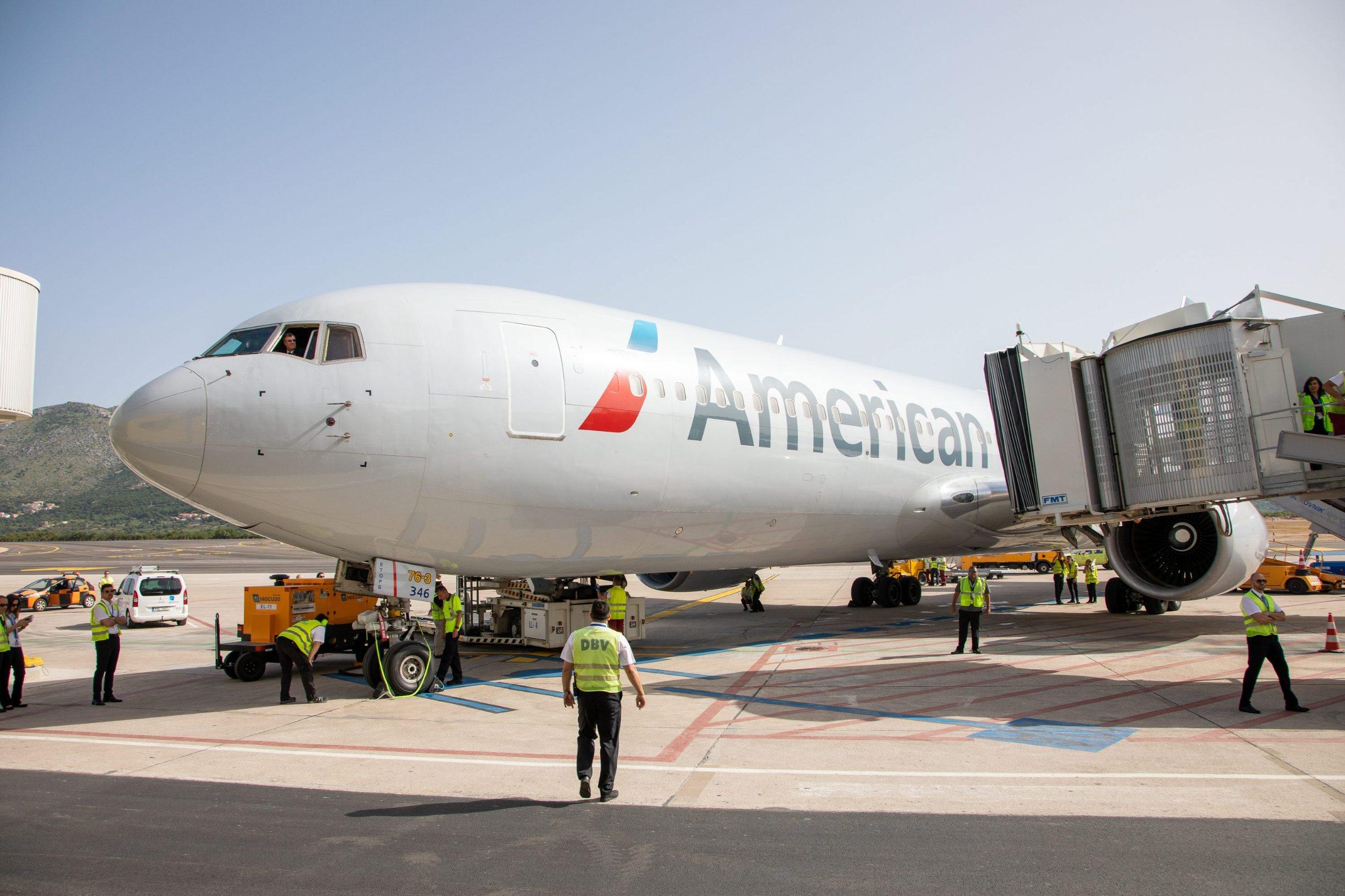 Doček inauguracijskog leta American Airlines na relaciji Philadelphia-Dubrovnik