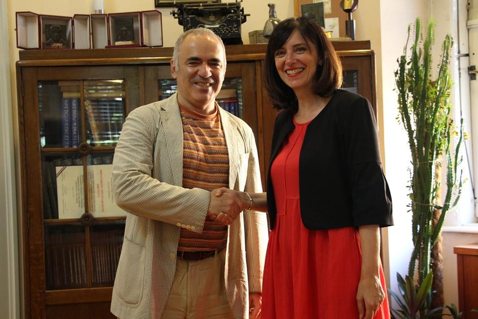 Gari Kasparov i Blaženka Divjak