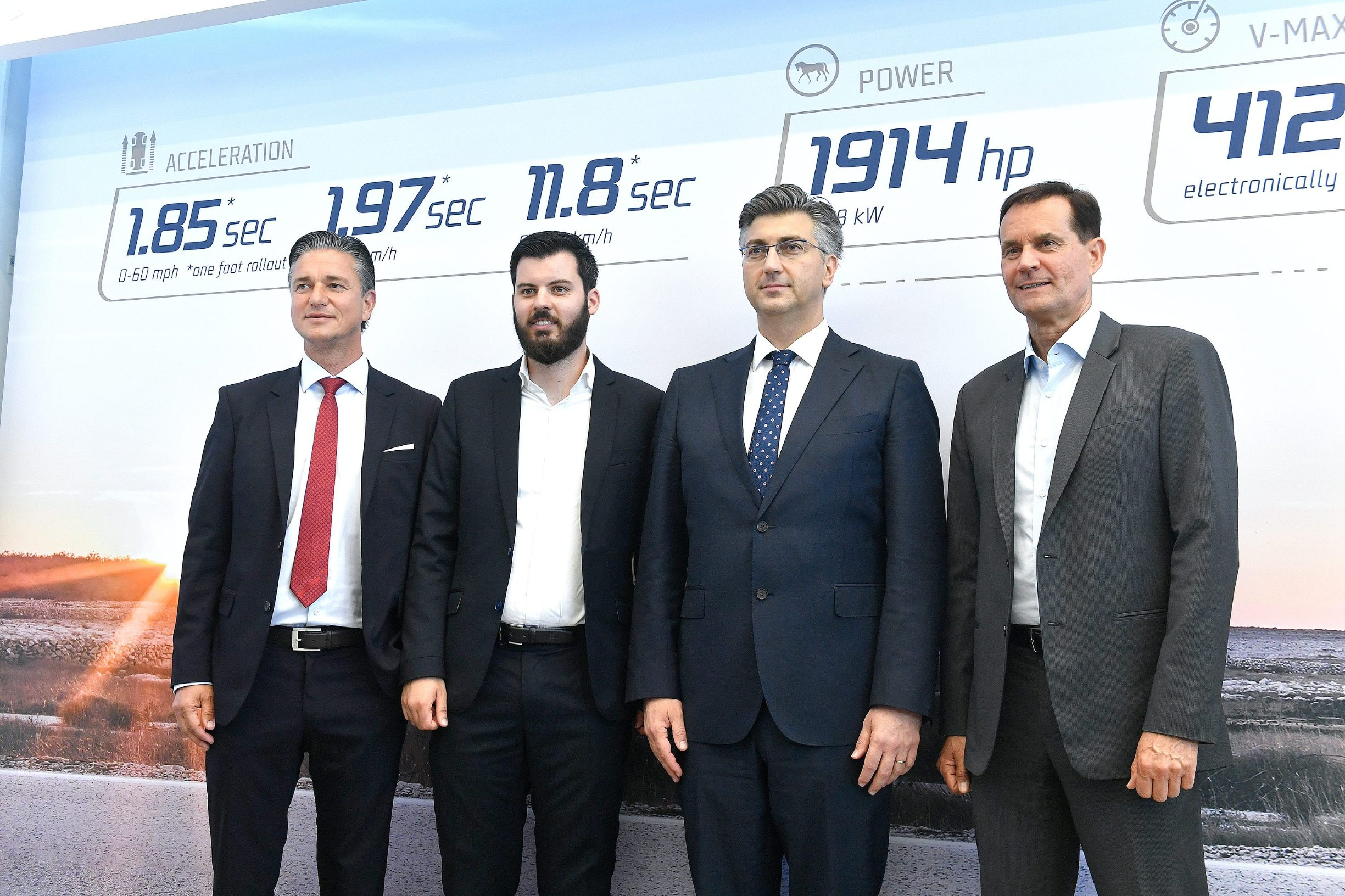 Lutz Meschke, Mate Rimac, Andrej Plenković, Thomas Schemera