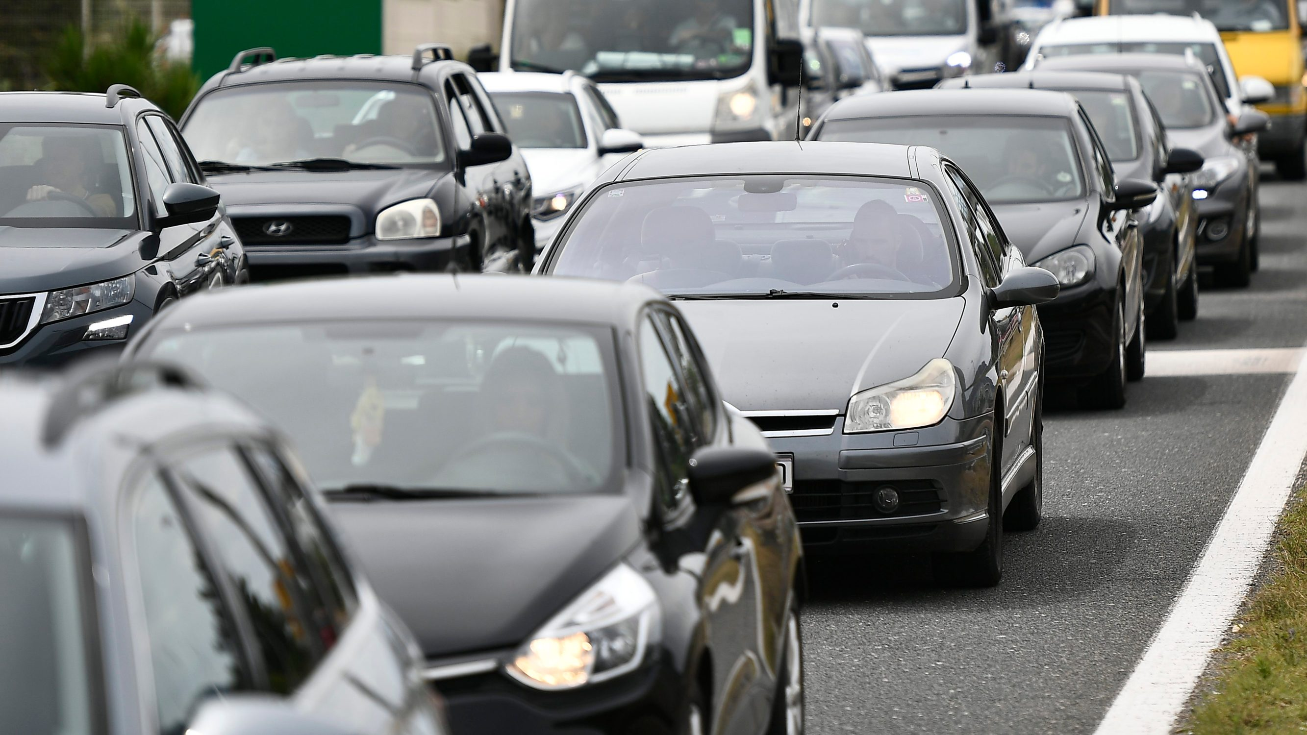 Prometna gužva na cesti kod Kaštela