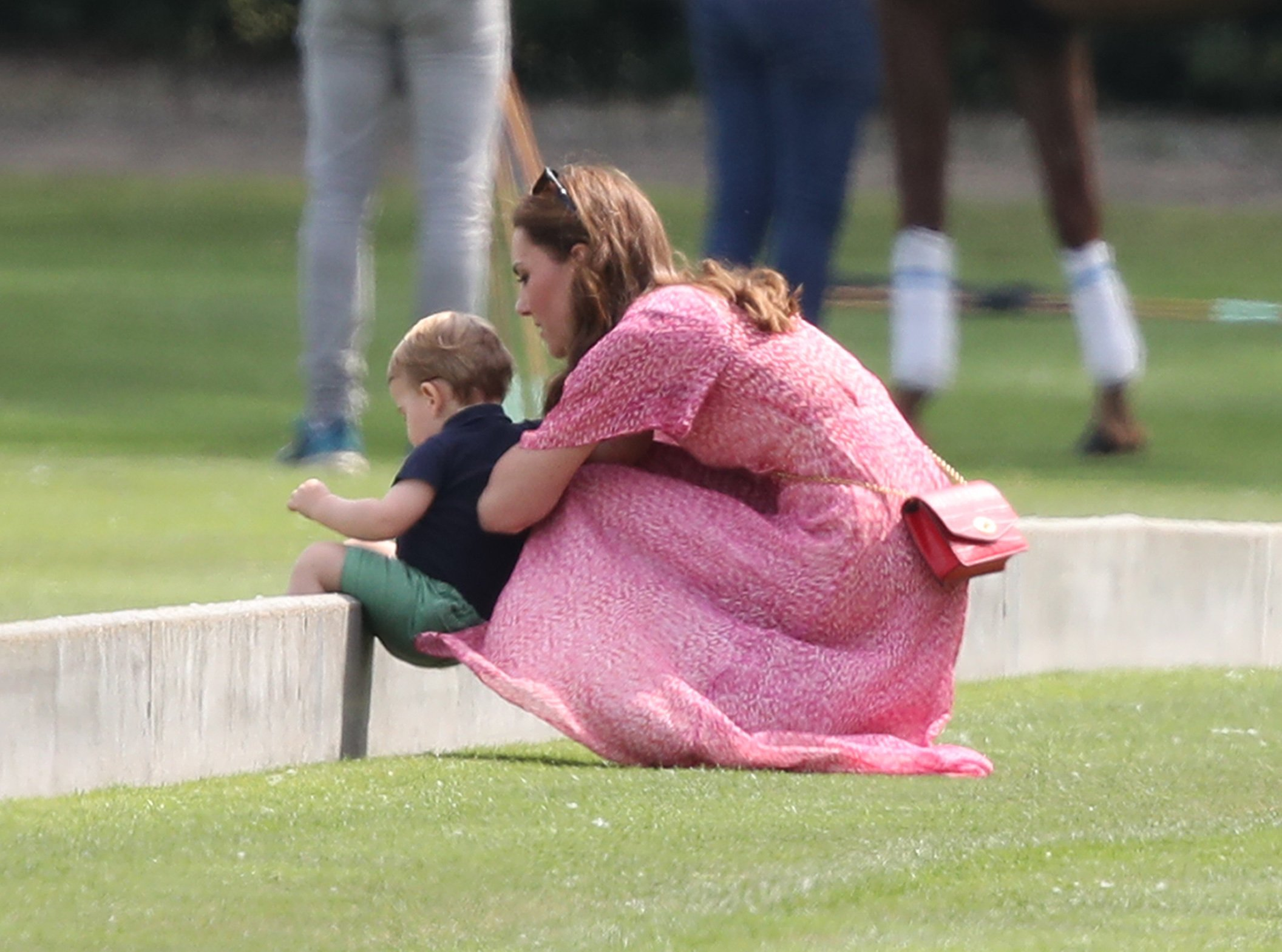 The Duchess of Cambridge and Prince Louis attend the King Power Royal Charity Polo Day at Billingbear Polo Club, Wokingham, Berkshire., Image: 456763404, License: Rights-managed, Restrictions: , Model Release: no, Credit line: Profimedia, Press Association
