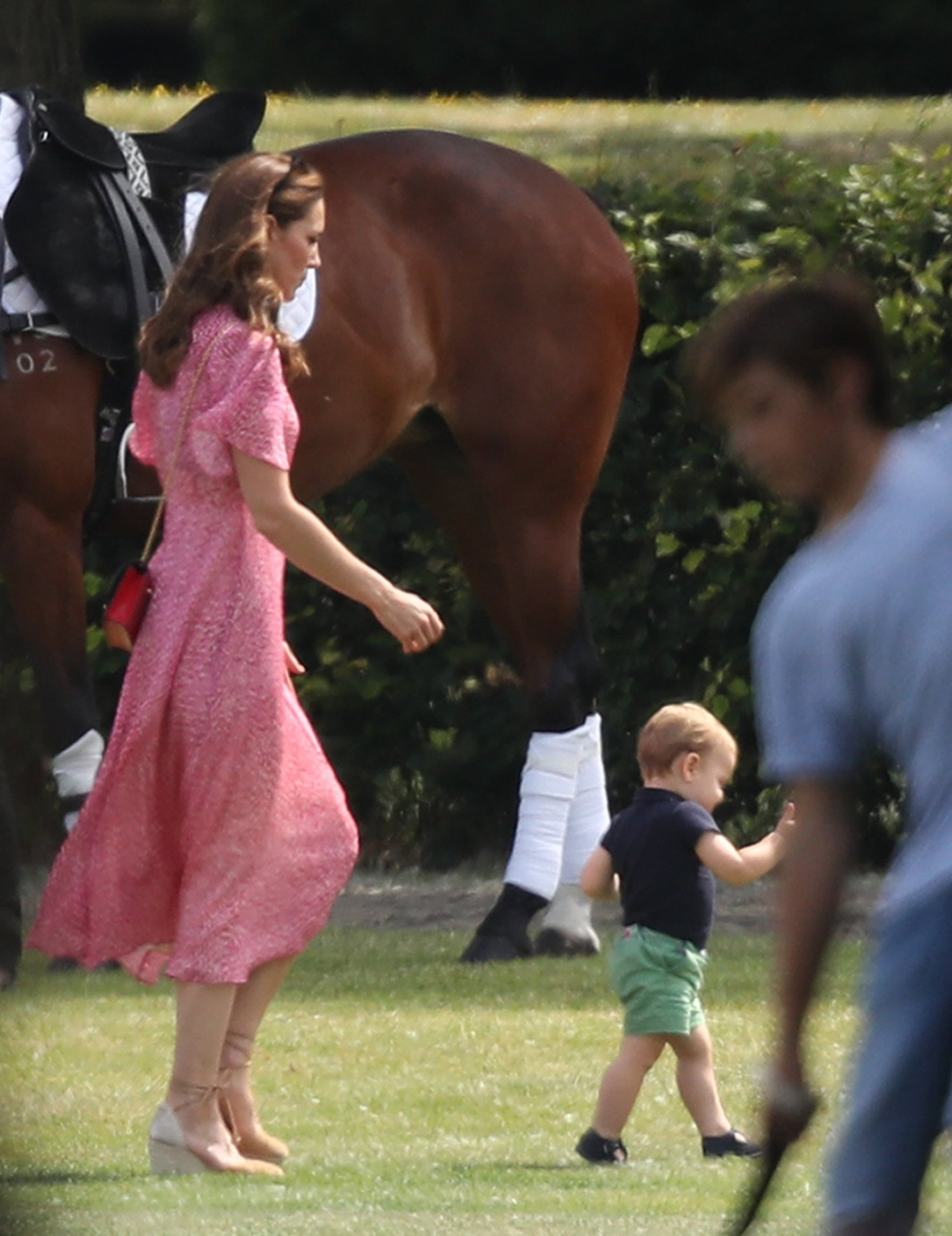 The Duchess of Cambridge and Prince Louis attend the King Power Royal Charity Polo Day at Billingbear Polo Club, Wokingham, Berkshire., Image: 456767460, License: Rights-managed, Restrictions: , Model Release: no, Credit line: Profimedia, Press Association
